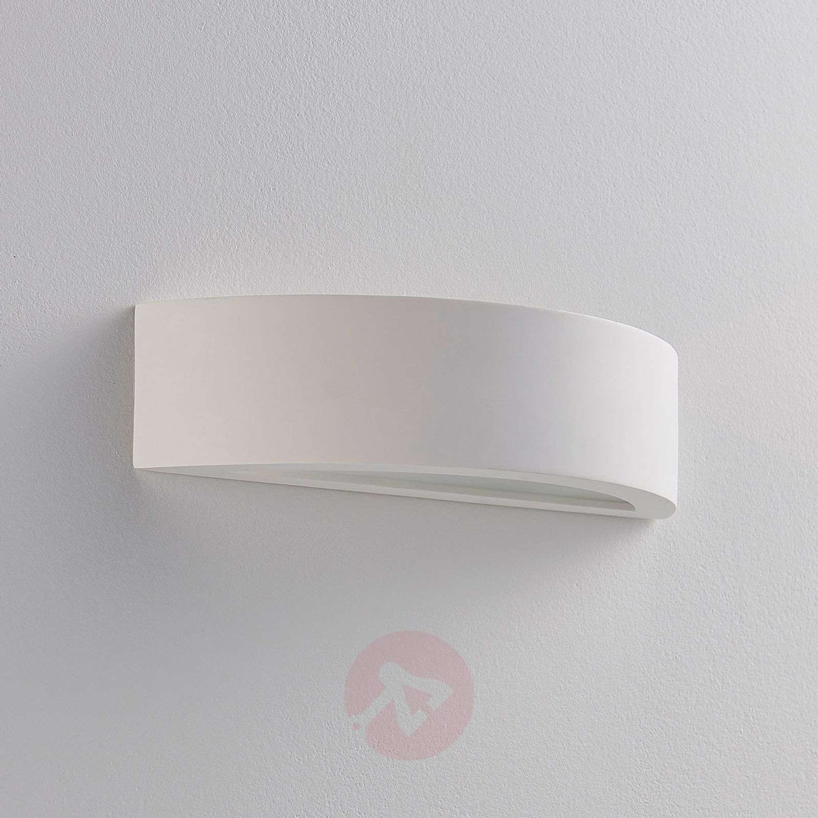 Semi-circ. plaster wall lamp Aurel, Easydim LED-9621321-01