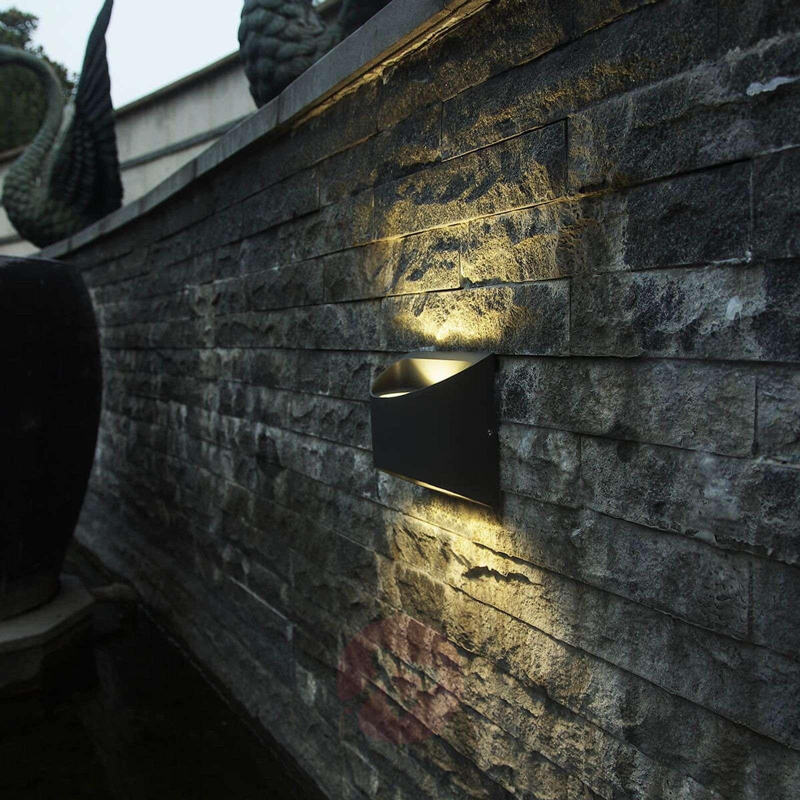 Semi-circular Dodd LED outdoor wall lamp aluminium-3006516-01