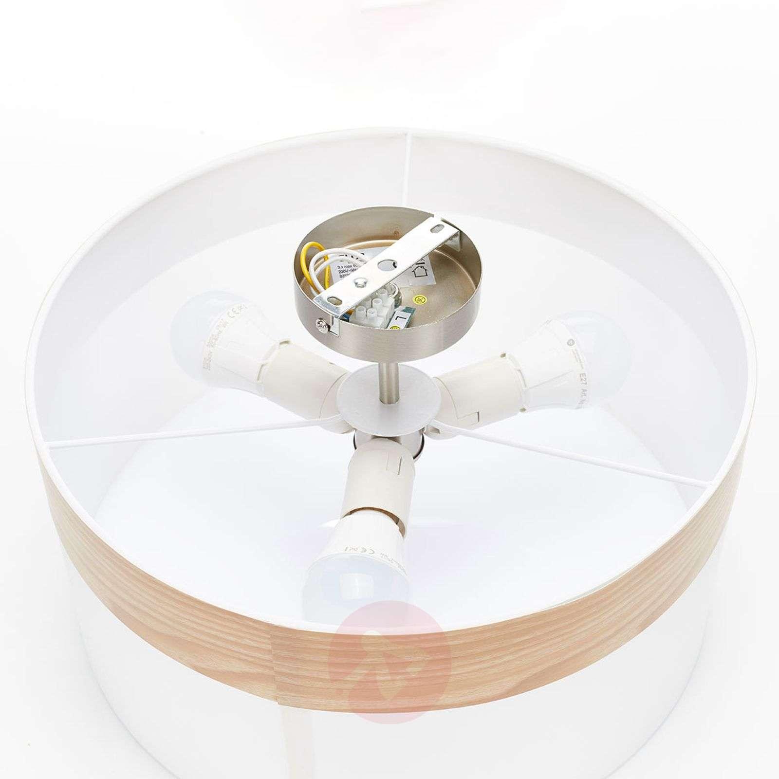 semi flush ceiling lamp libba cream wood lights ie