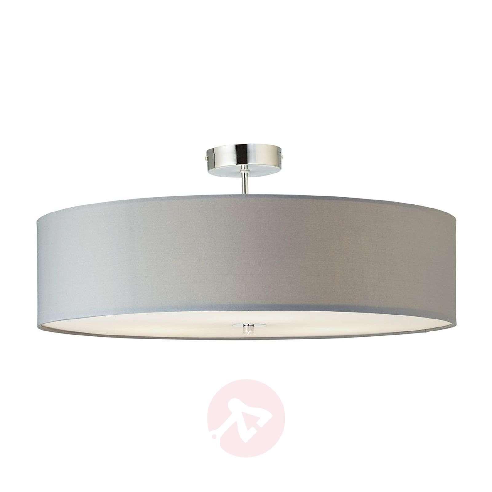 Semi flush ceiling light andria fabric lampshade