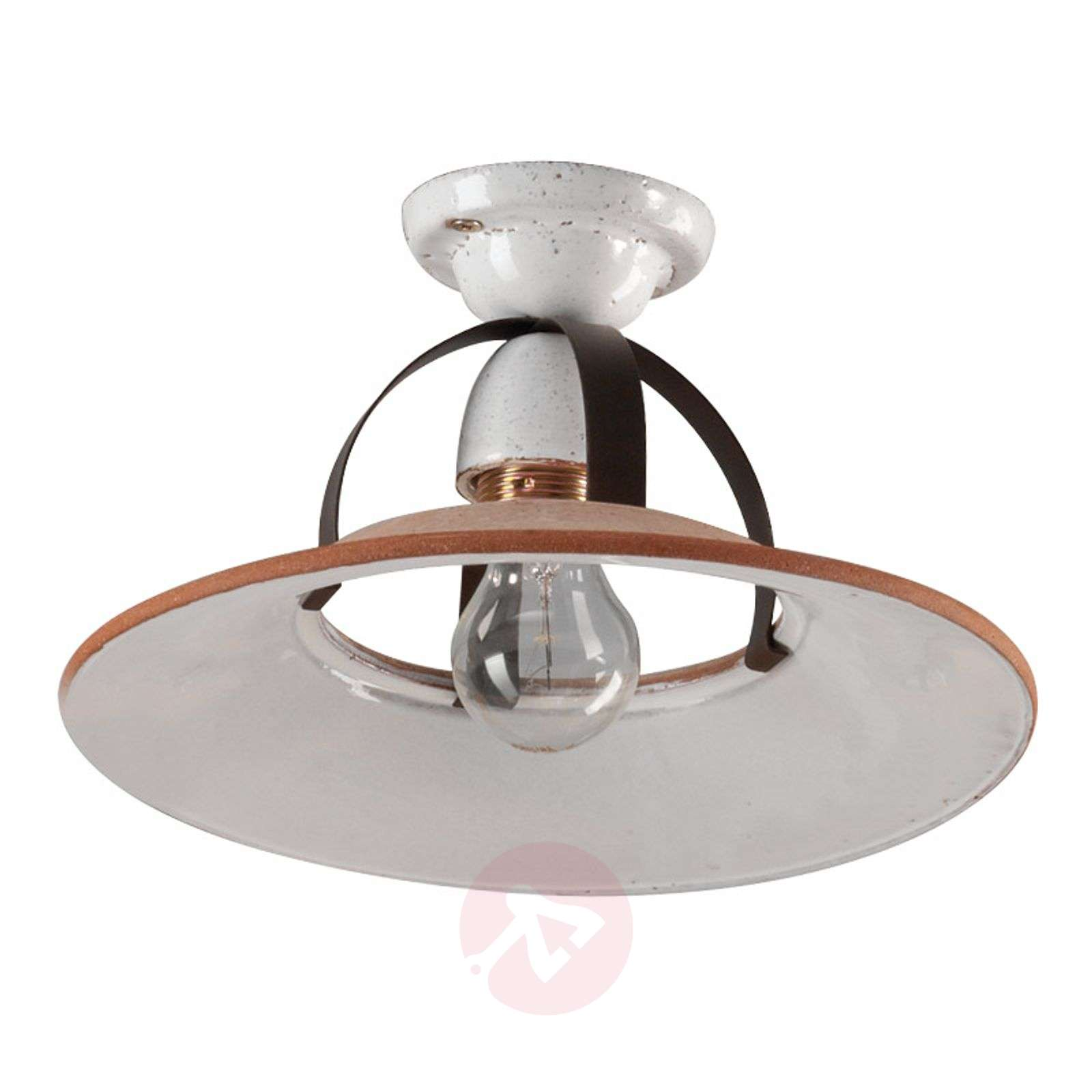 Semi flush ceramic ceiling light rubino lights semi flush ceramic ceiling light rubino 3046093 01 aloadofball Image collections
