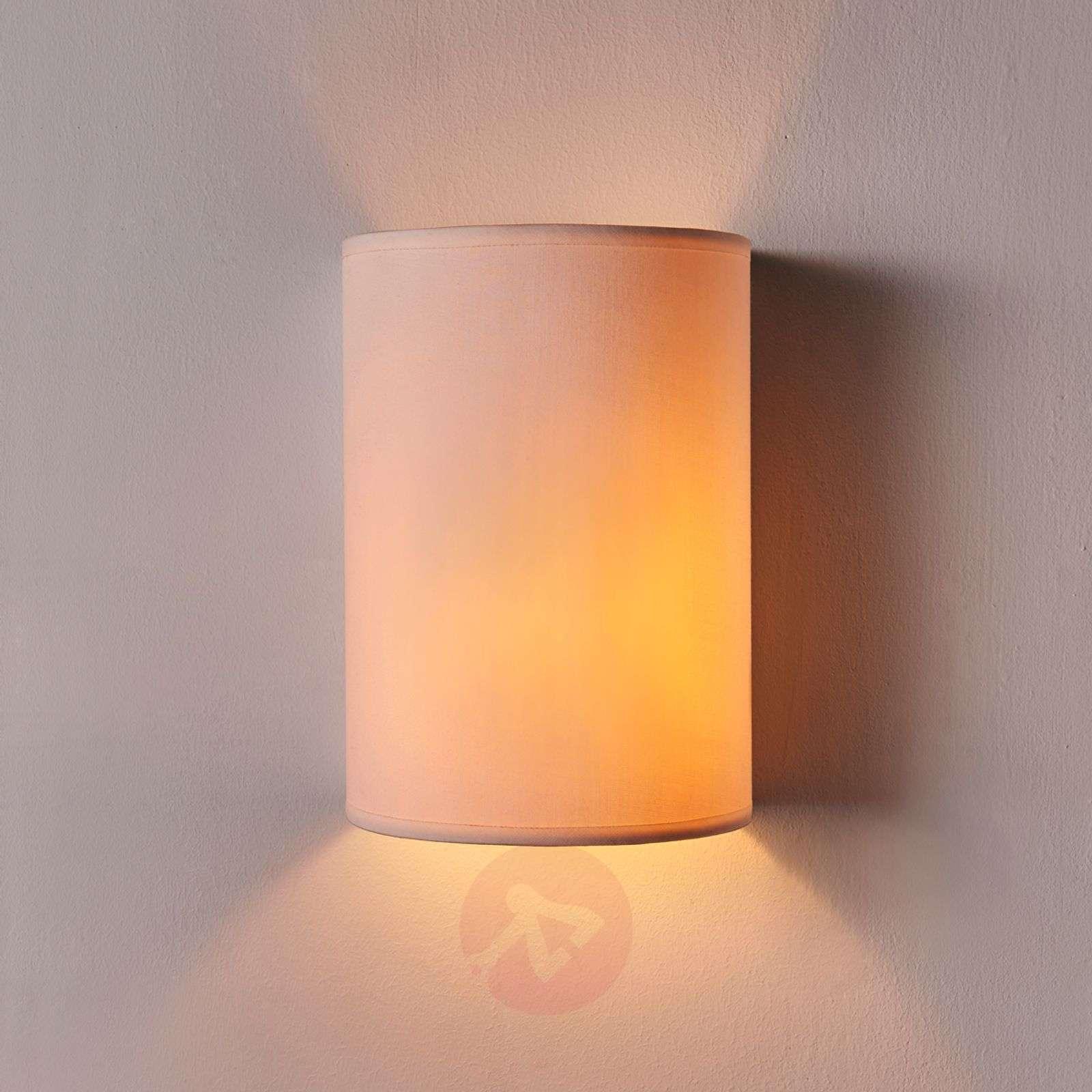 Semicylindrical fabric wall light Annalisa, white-9620875-02