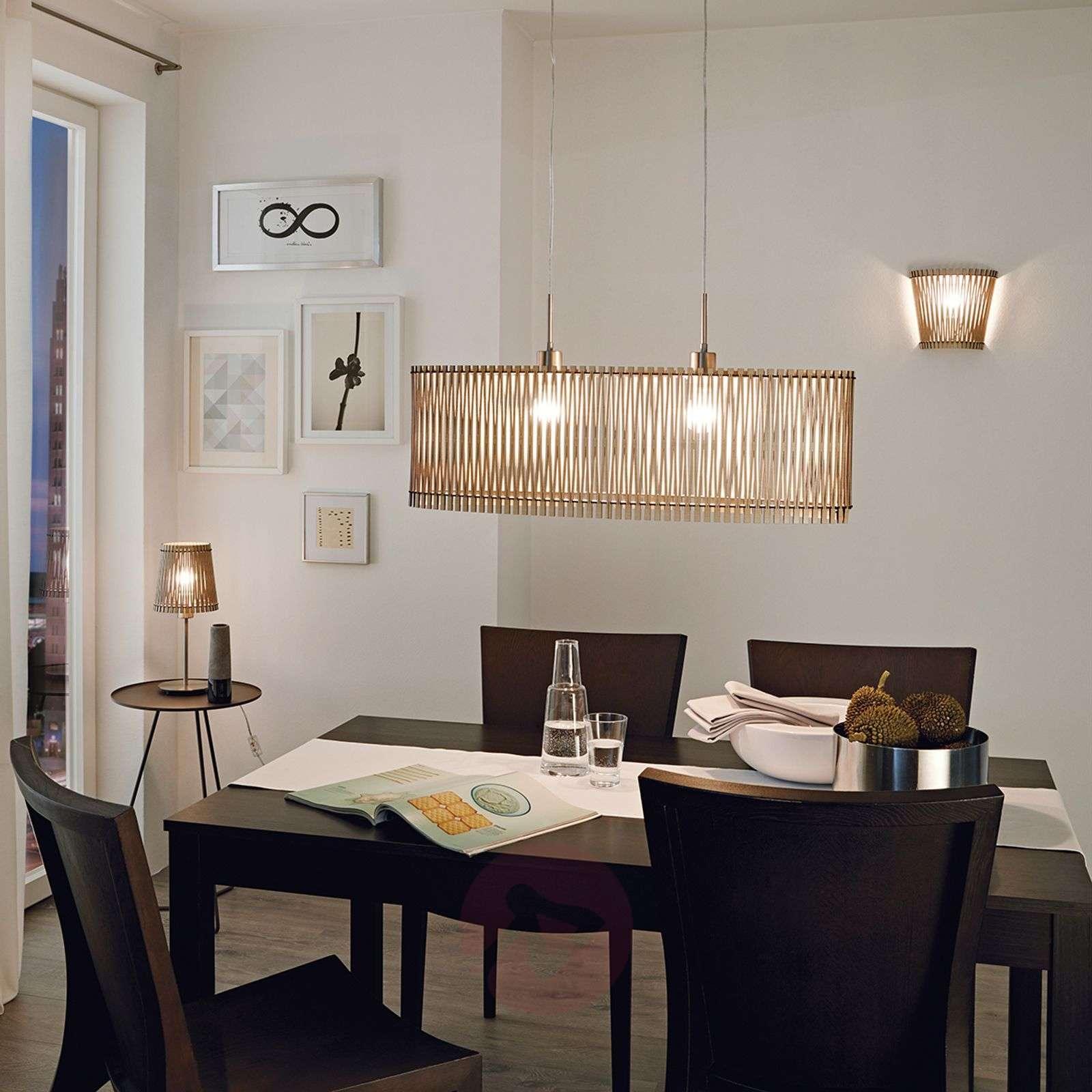 Sendero wooden pendant light with natural design-3031912-01