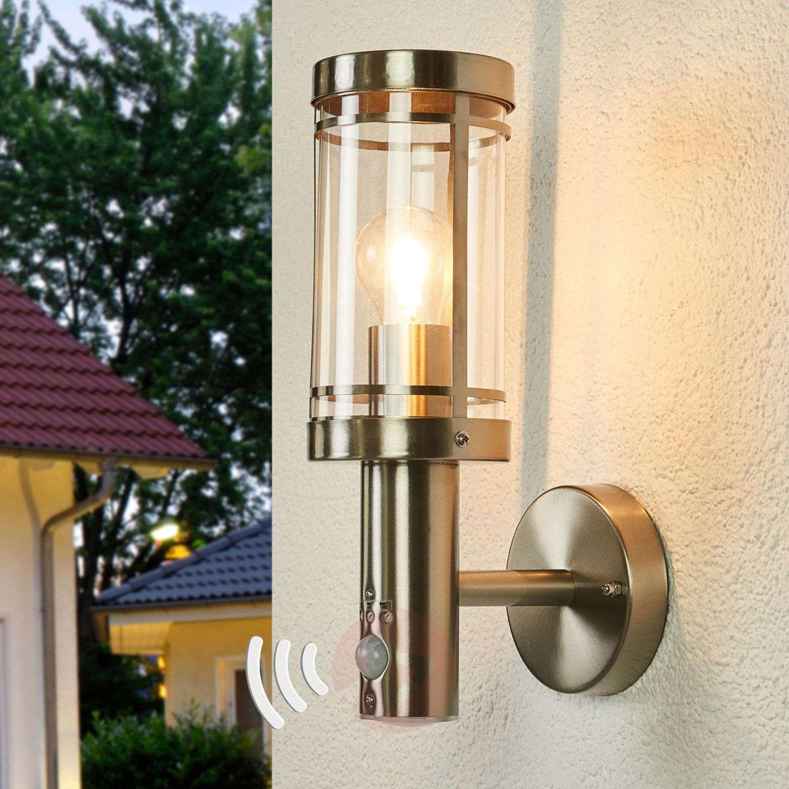 Sensor Stainless Steel Outdoor Wall Lamp Djori