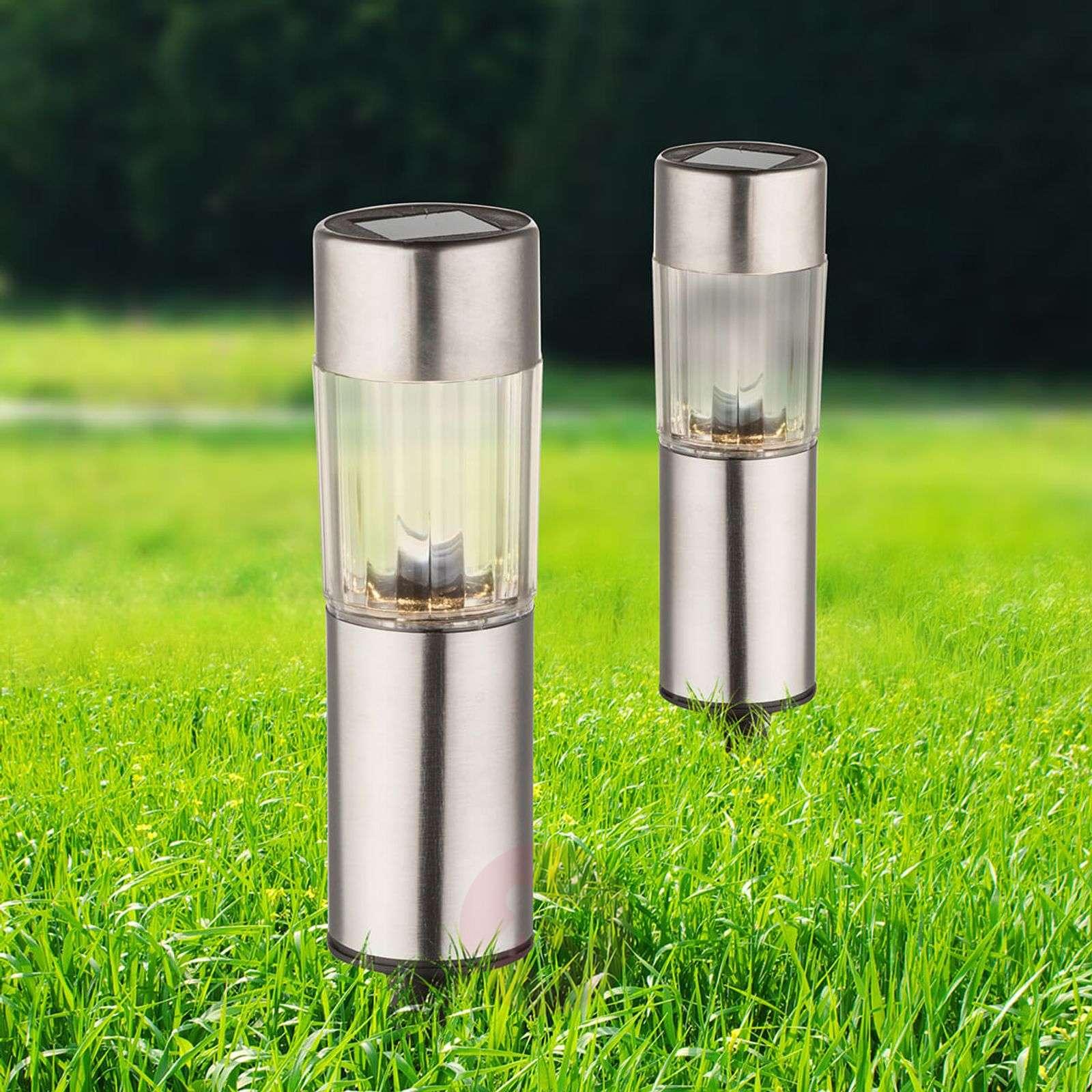 Set of 4 Aro LED solar dec. light wt ground spike-4014934-01