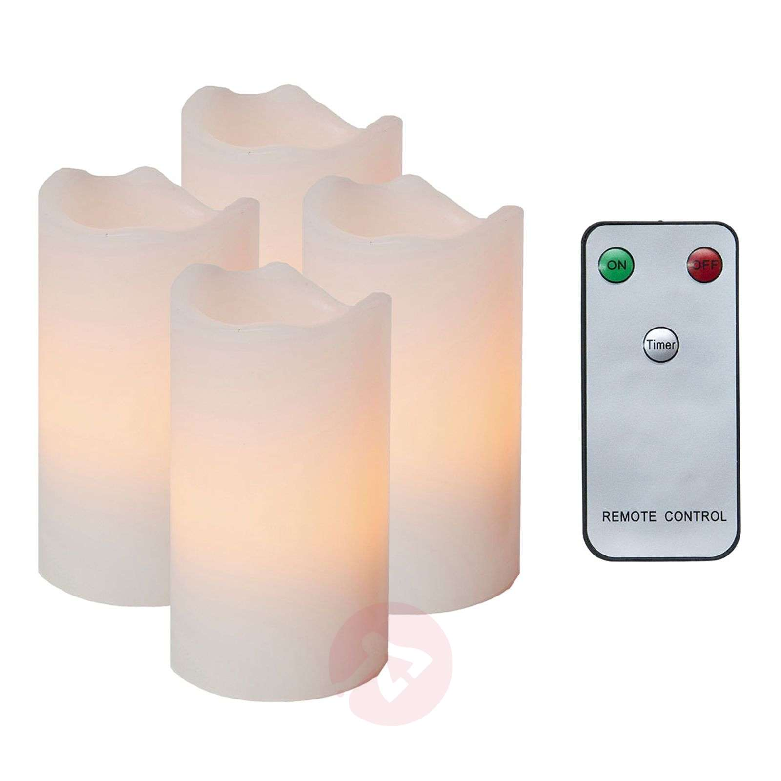 Set of 4 LED candles with a remote-1522511X-01