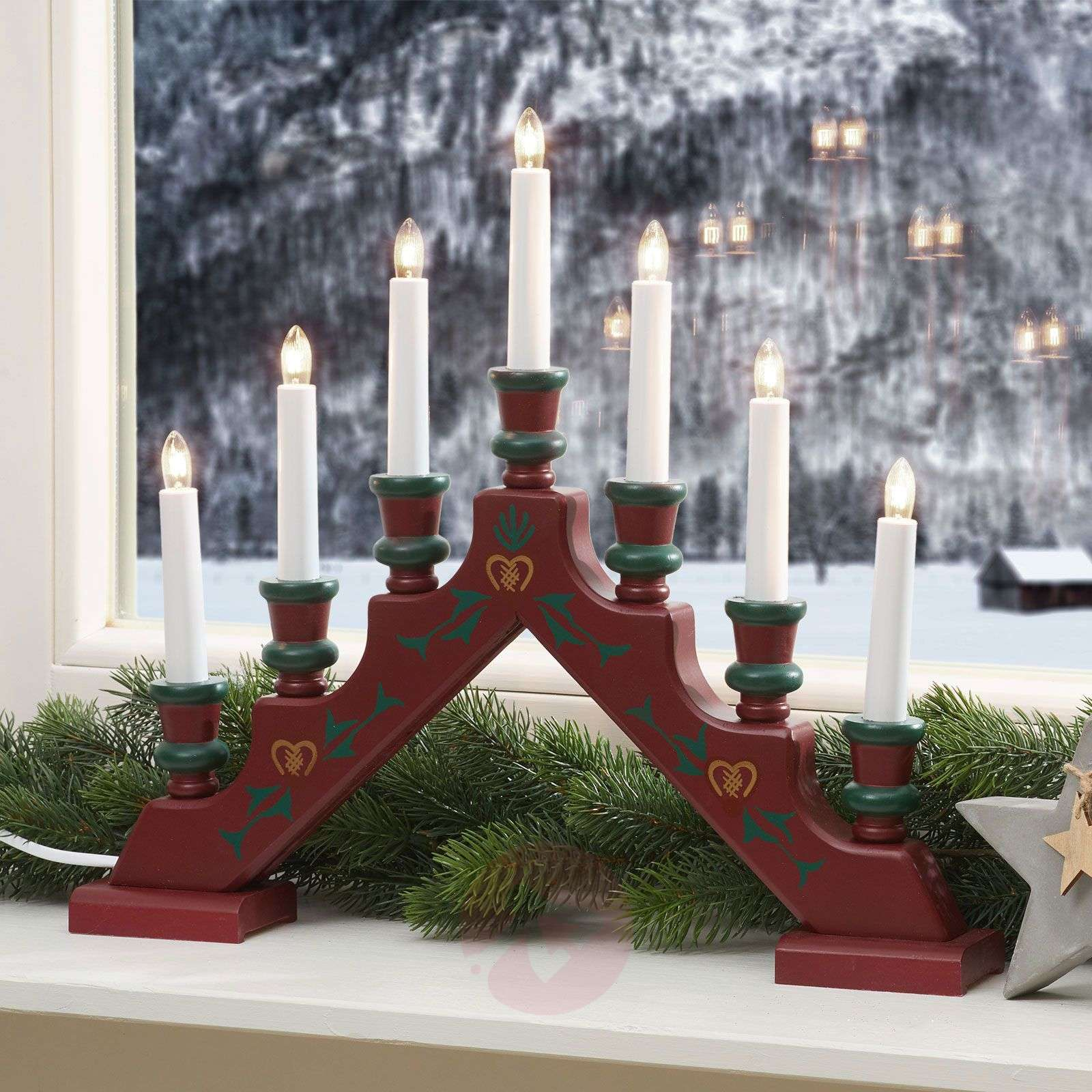 Seven-light red candle arch Sara Tradition-1522380-01