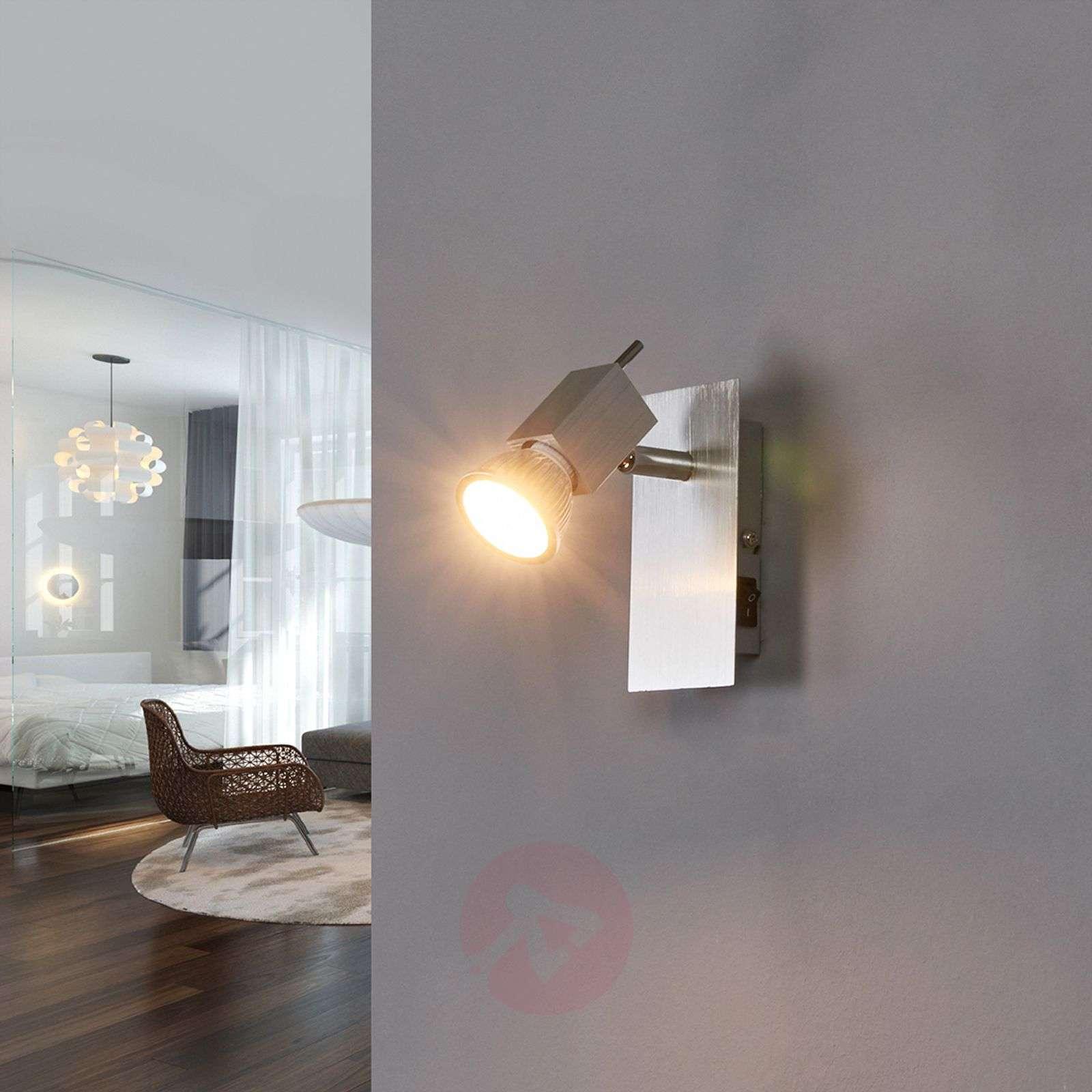 Sevina wall spotlight, brushed aluminium-9634005-03