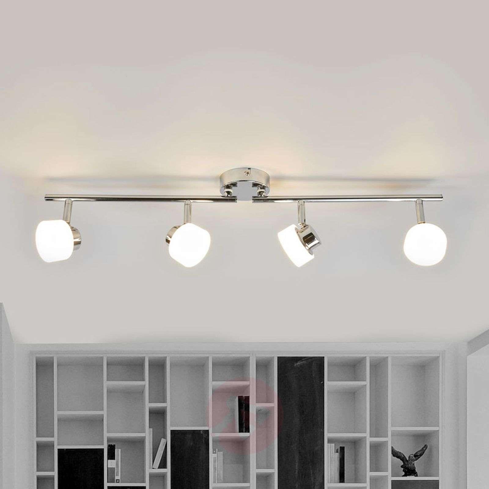 Shia LED ceiling lamp with chrome frame | Lights.ie