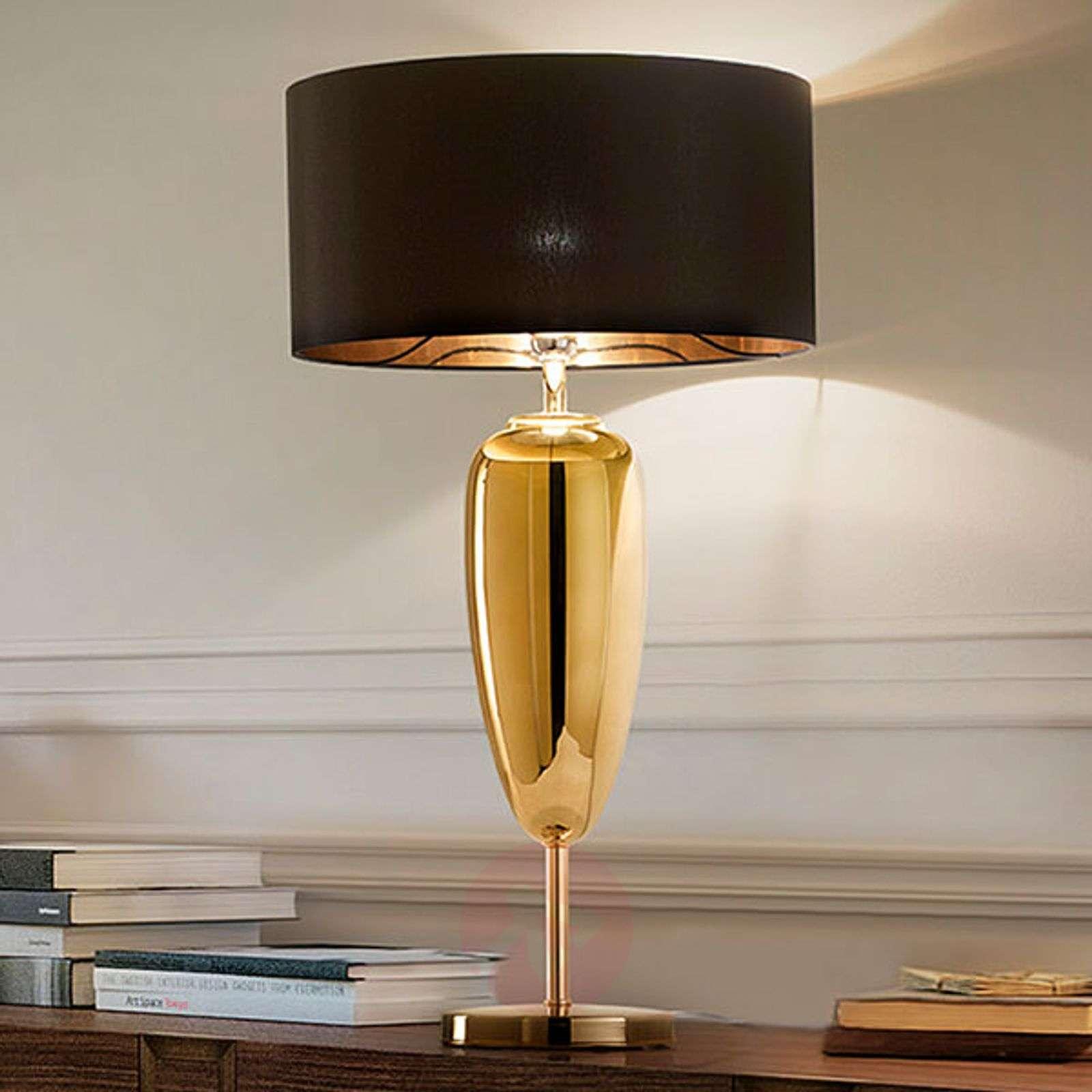 Show Ogiva black-gold fabric table lamp-1053271-01