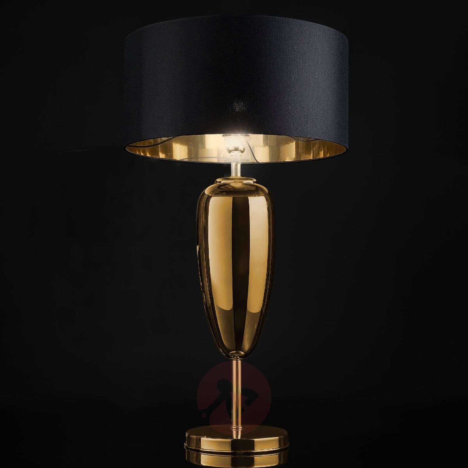 Show Ogiva Black Gold Fabric Table Lamp Lights Ie