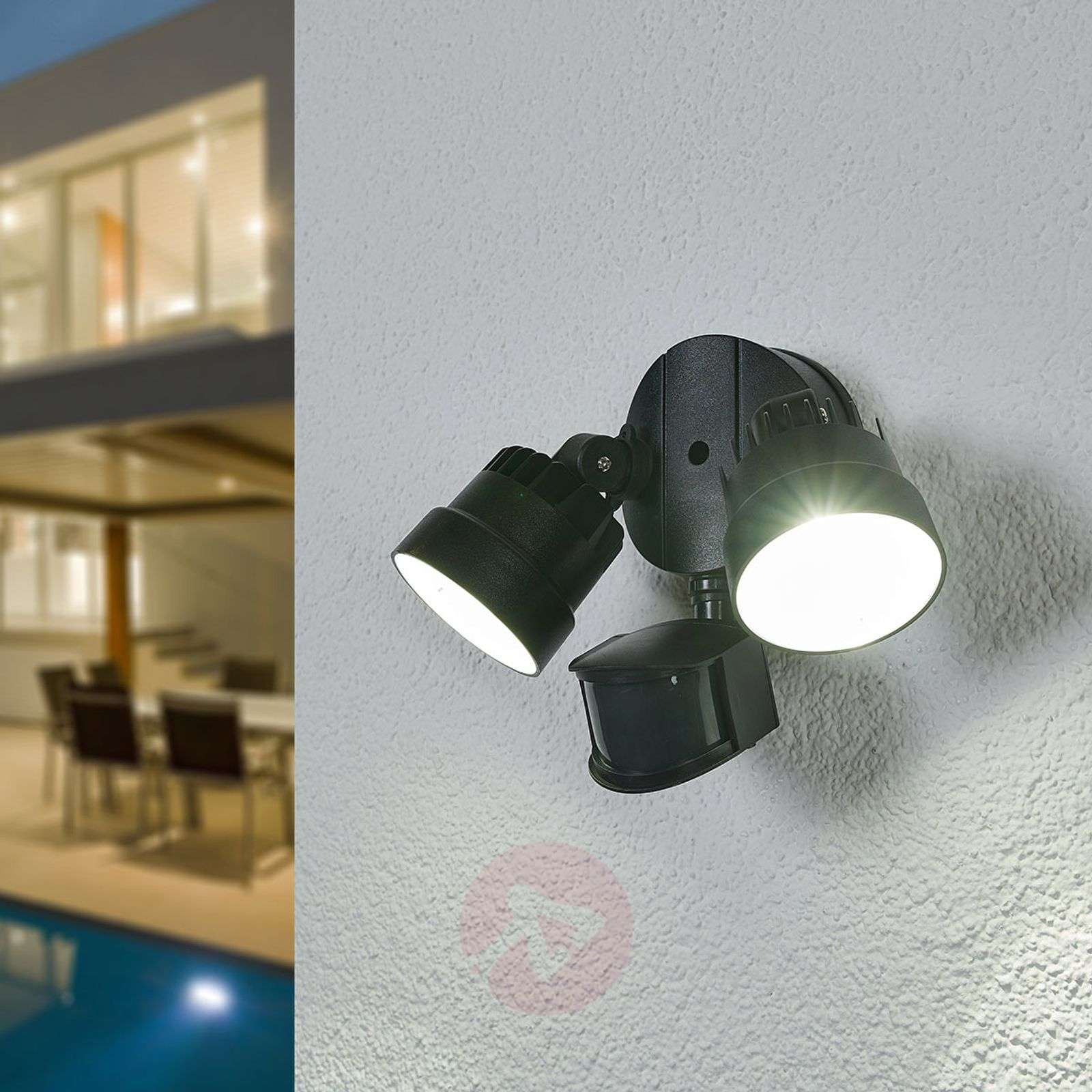 Shrimp LED outdoor spotlight with MS, 12W-3006351-03