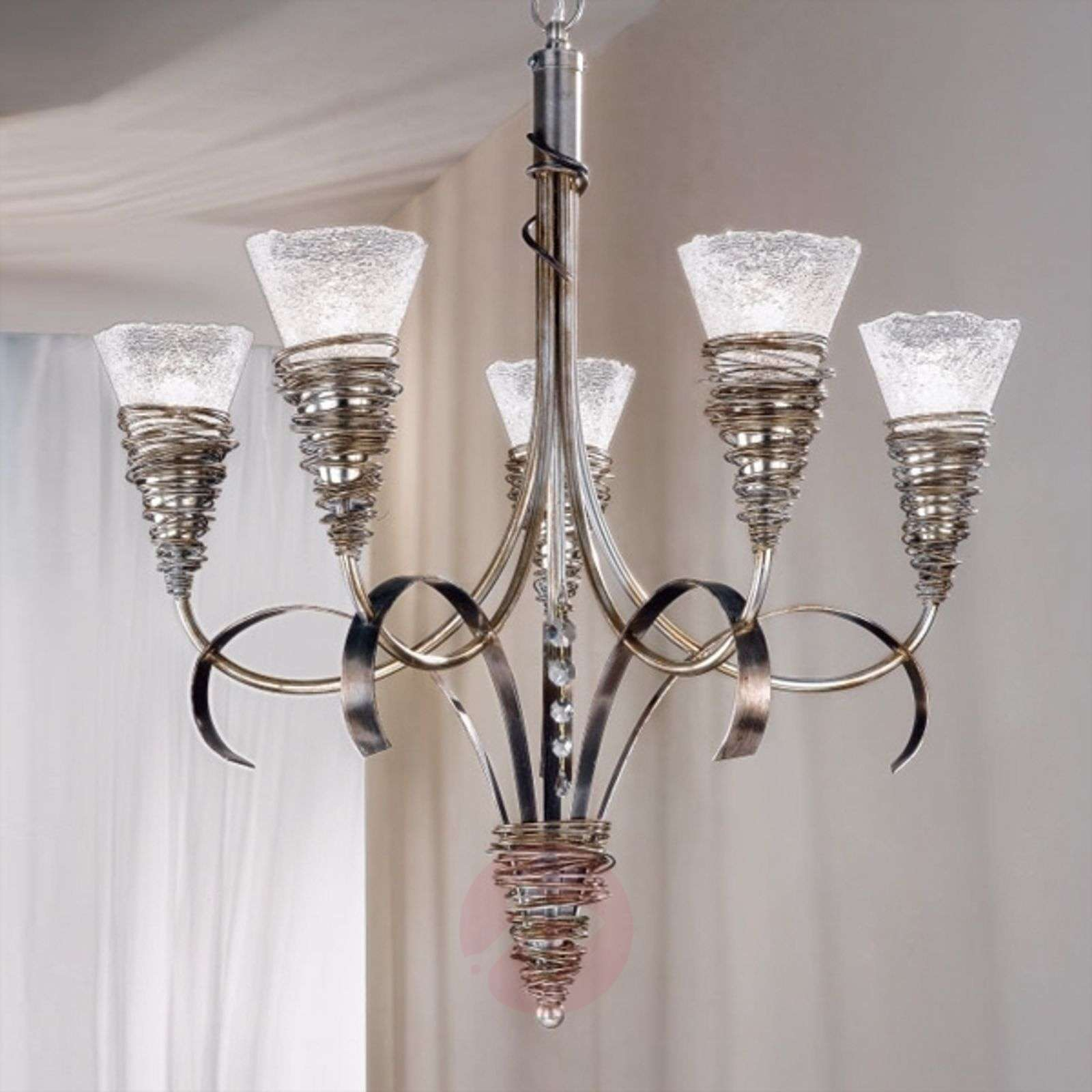 Silver coloured chandelier siberia lights aloadofball Image collections