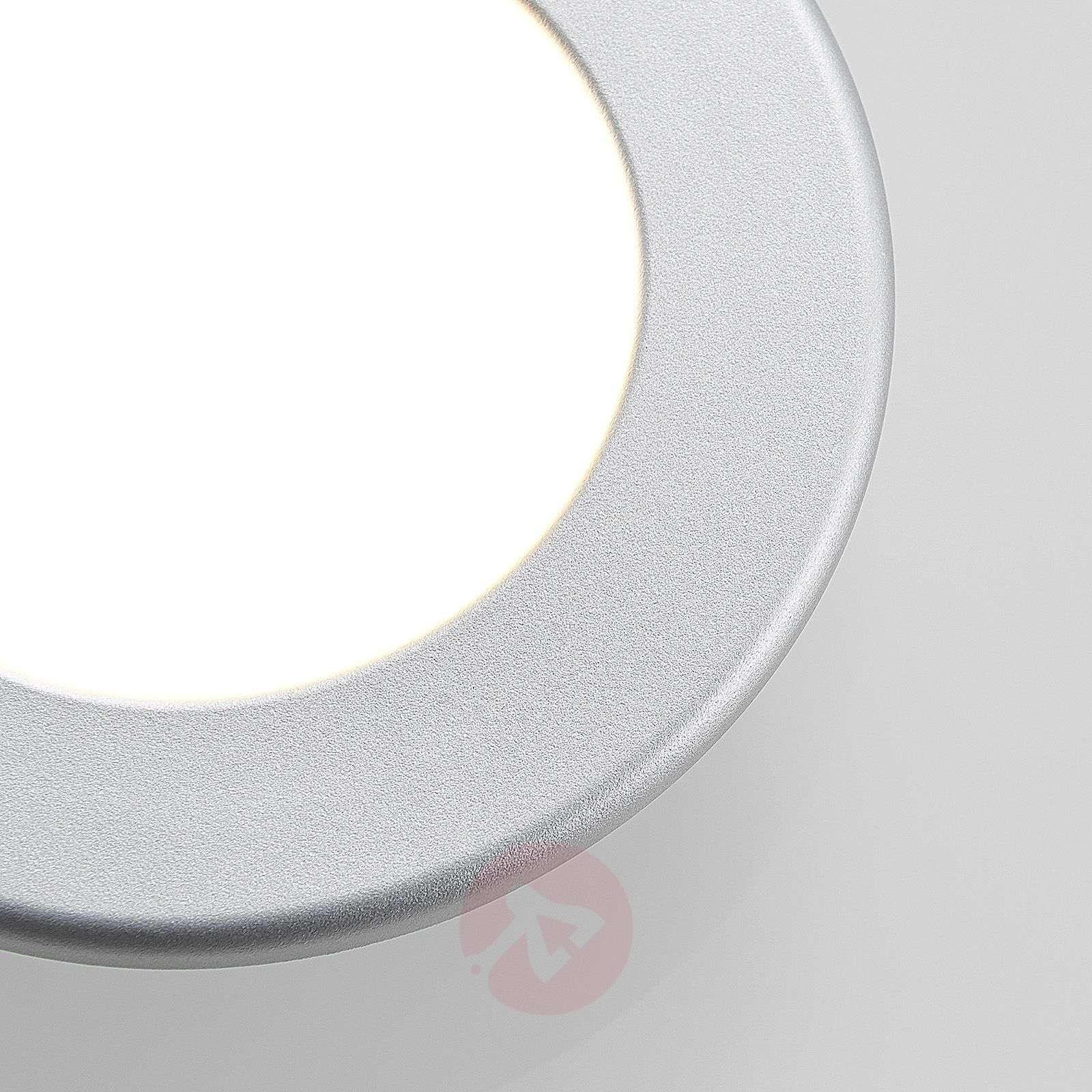 Silver LED recessed light Joki, round-9978045-02