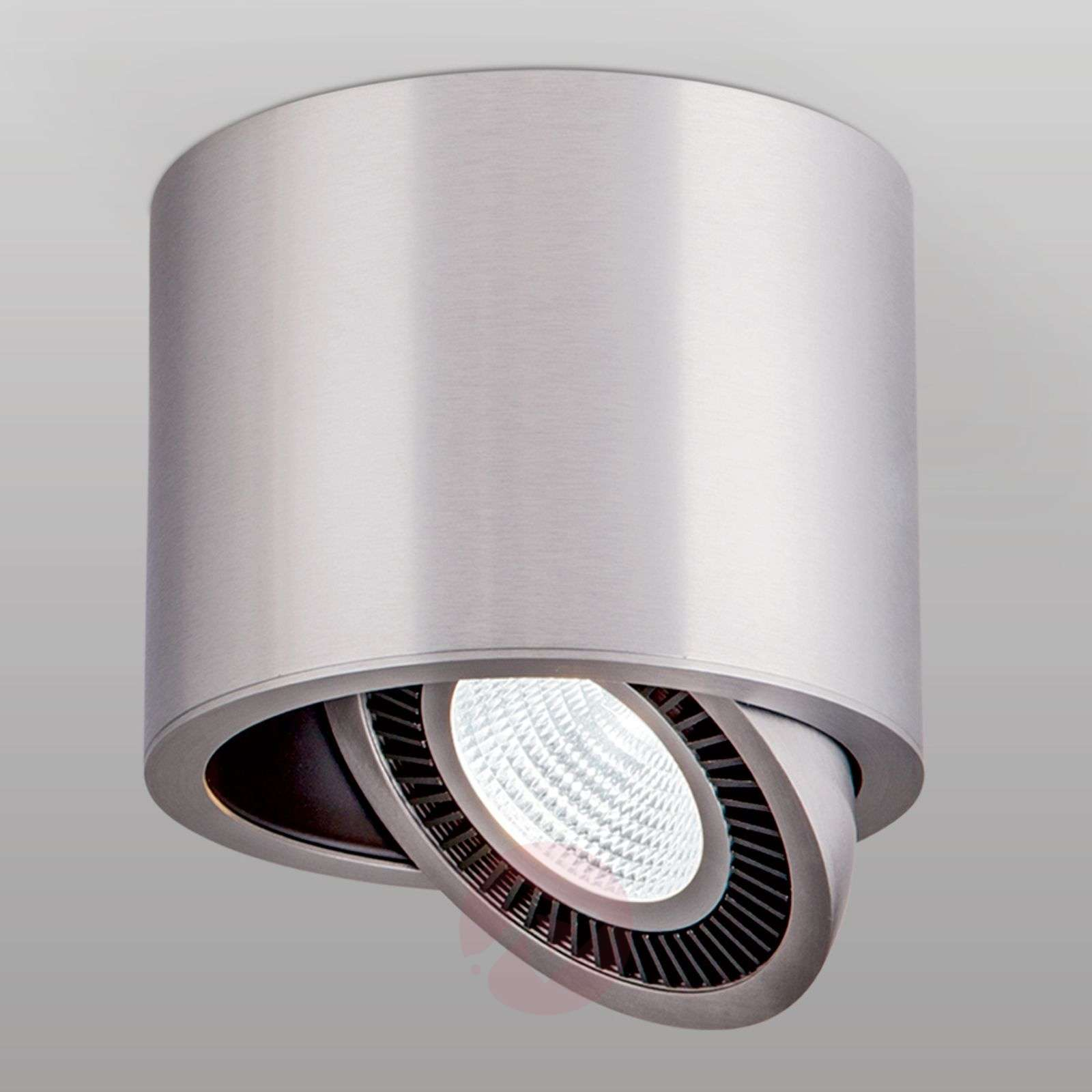 Silver Led Surface Mounted Ceiling Spotlight Sofya 7255147 01