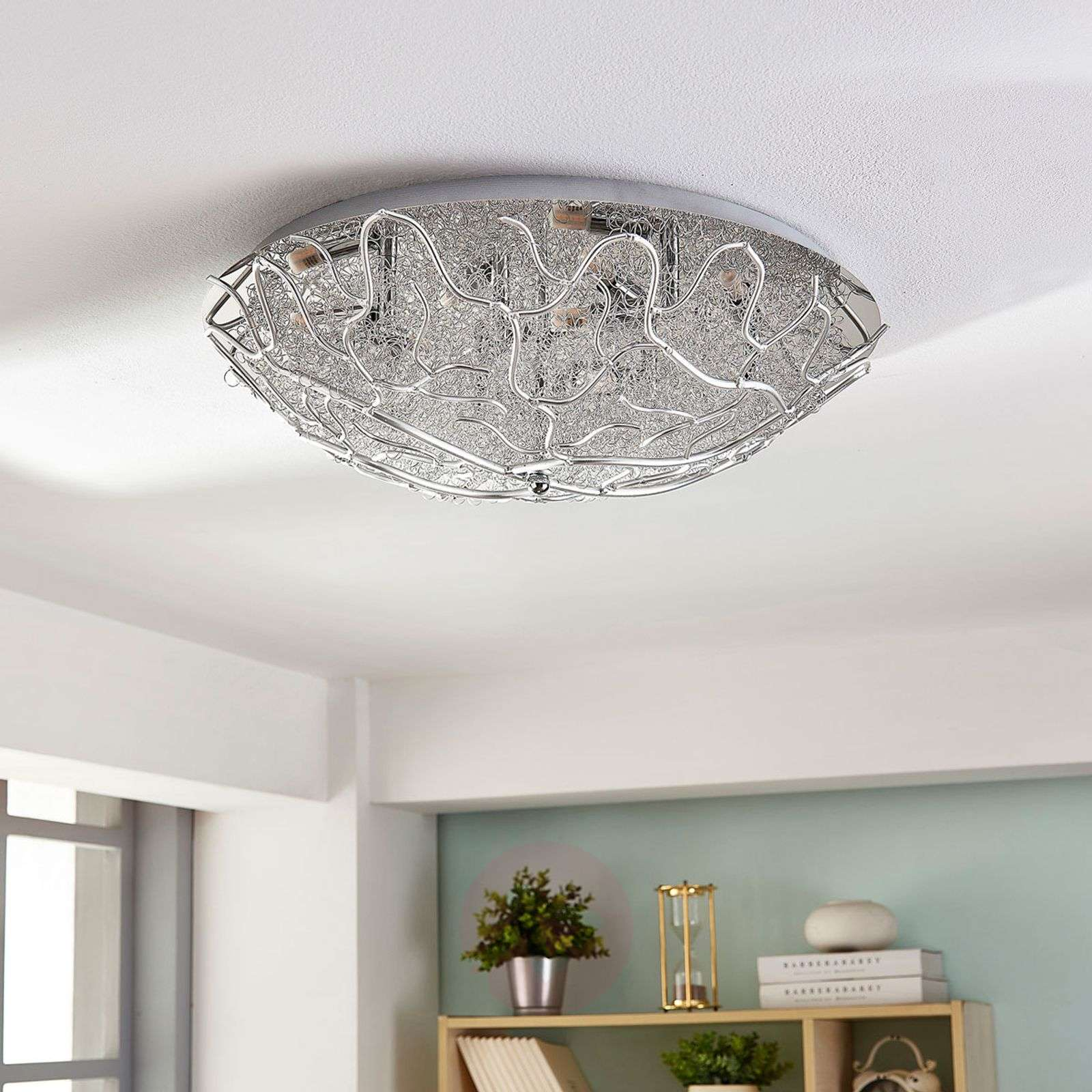 Simone Led Ceiling Lamp With Wire Mesh G9 Wiring A 9621927 02