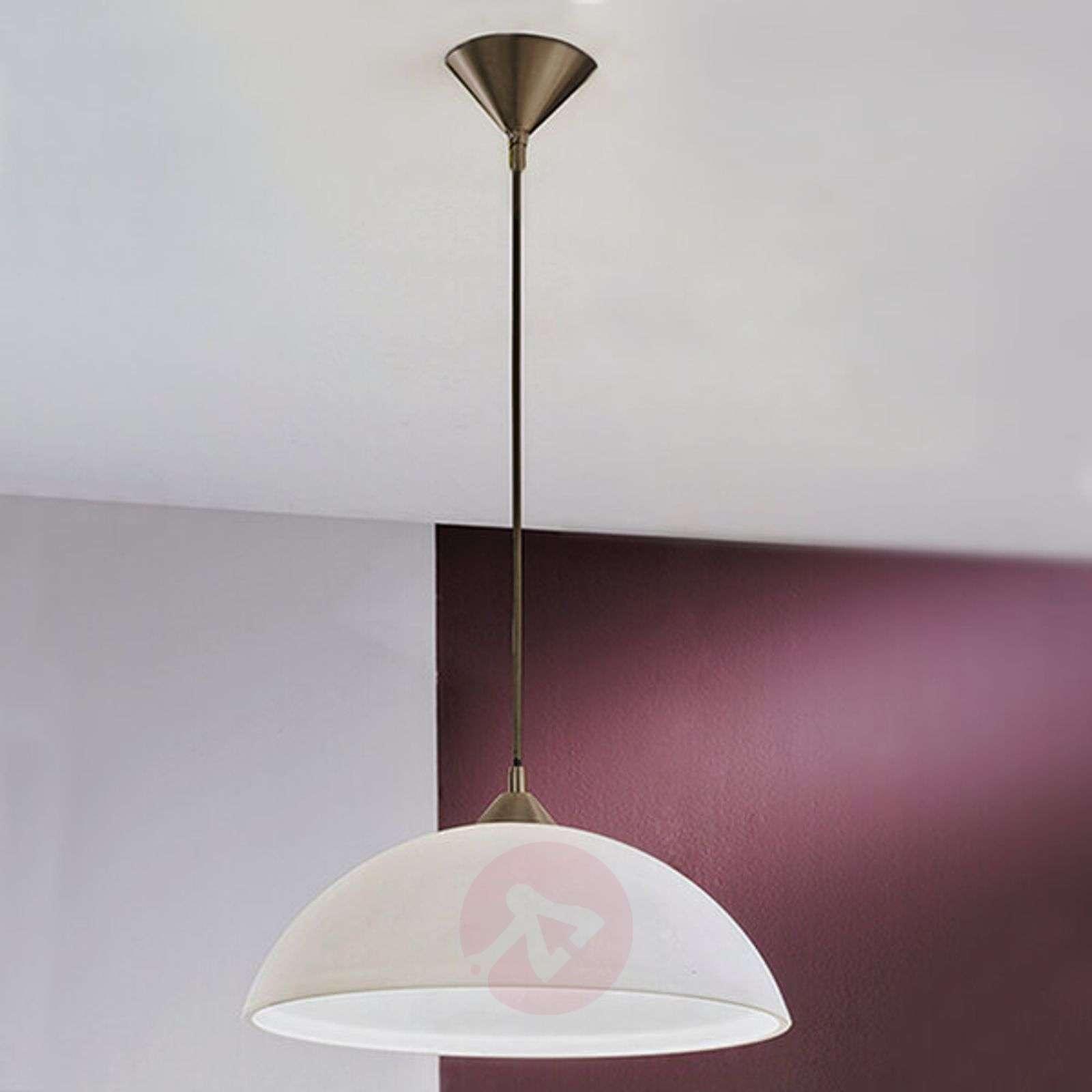 Simple hanging light Kinga, opal glass lampshade-7255343-01