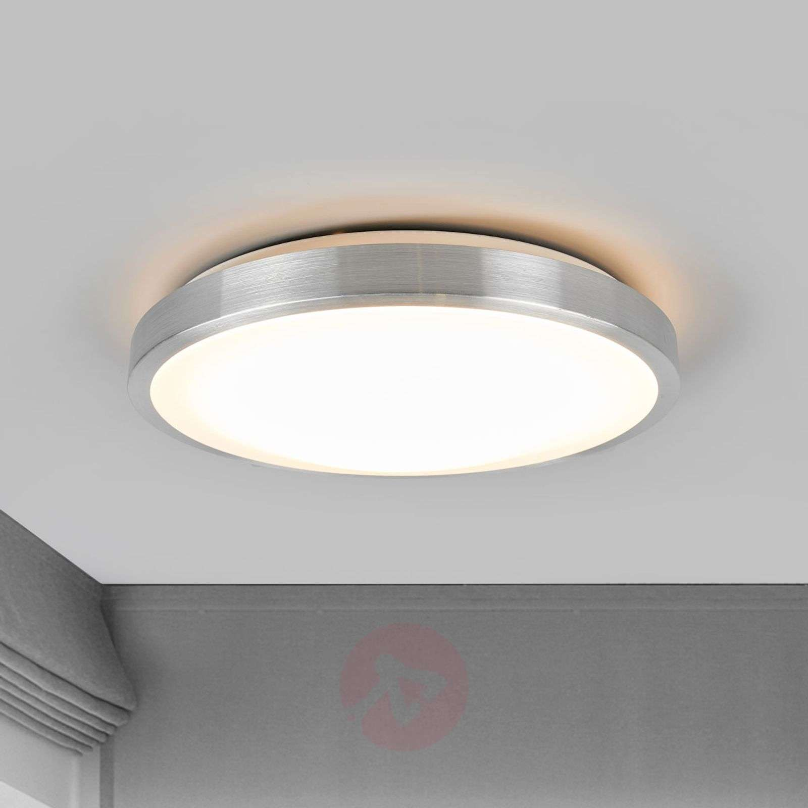 Simple LED ceiling light Jasmin, round lampshade-9974019-01
