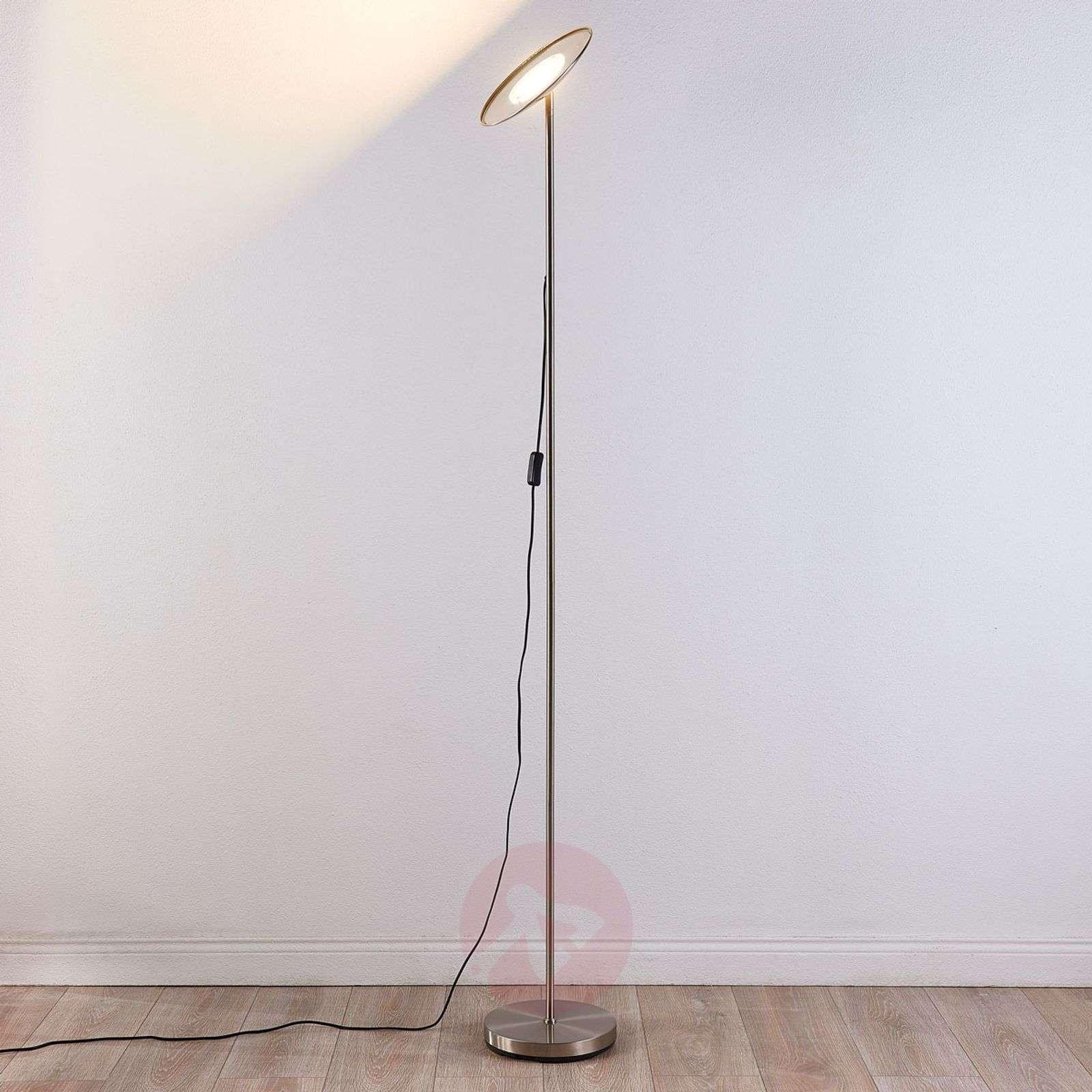 Simple LED uplighter Ela, satin nickel-9621137-02