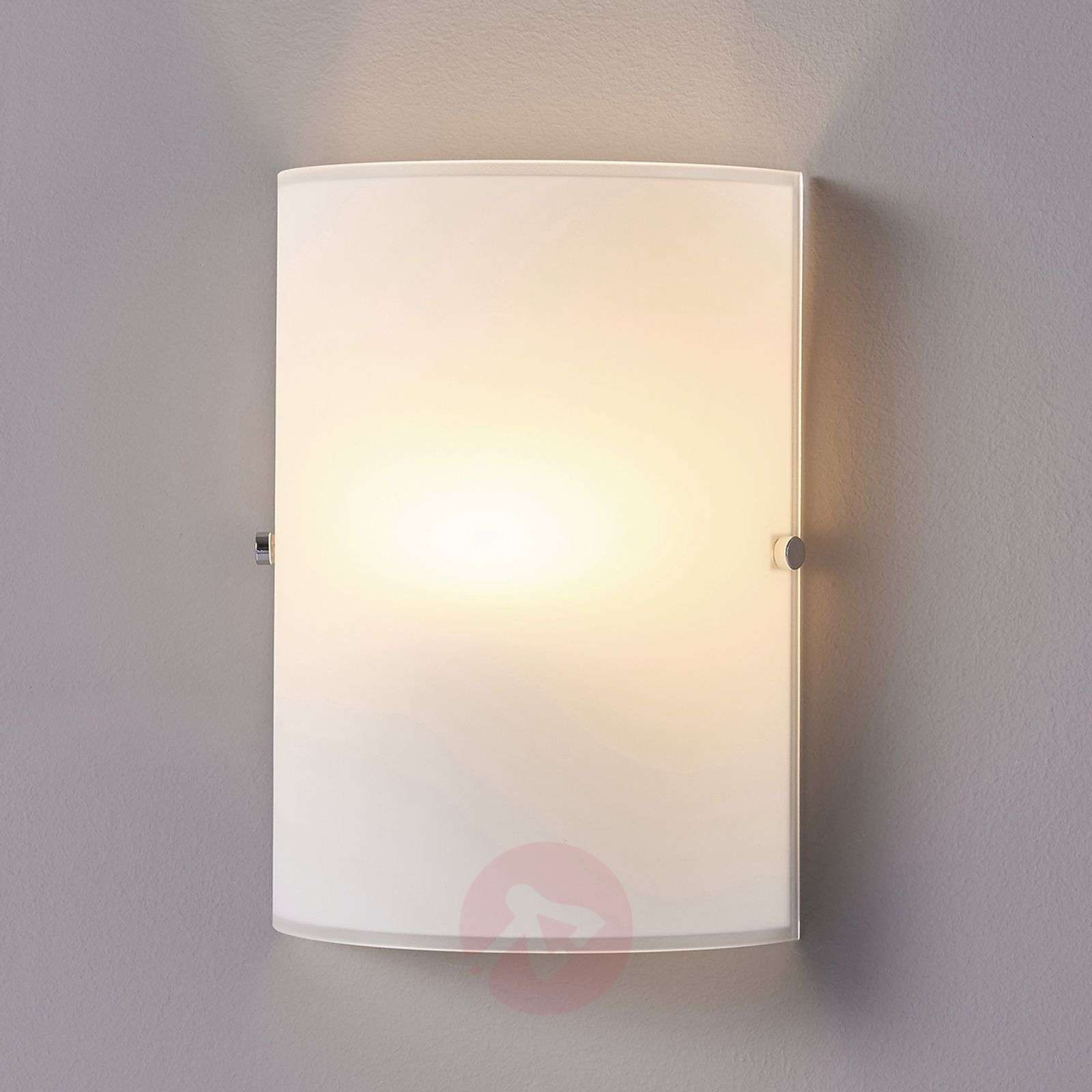 Simple Wall Light Giulia Made From Frosted Glass Lights Ie
