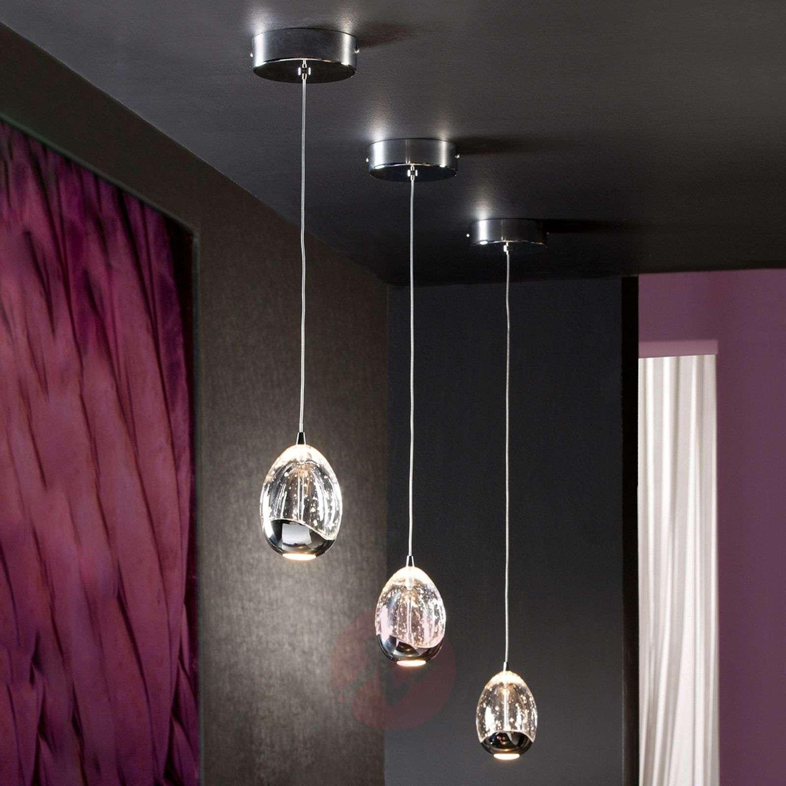 Single-light LED hanging light Rocio in chrome-8582200-01