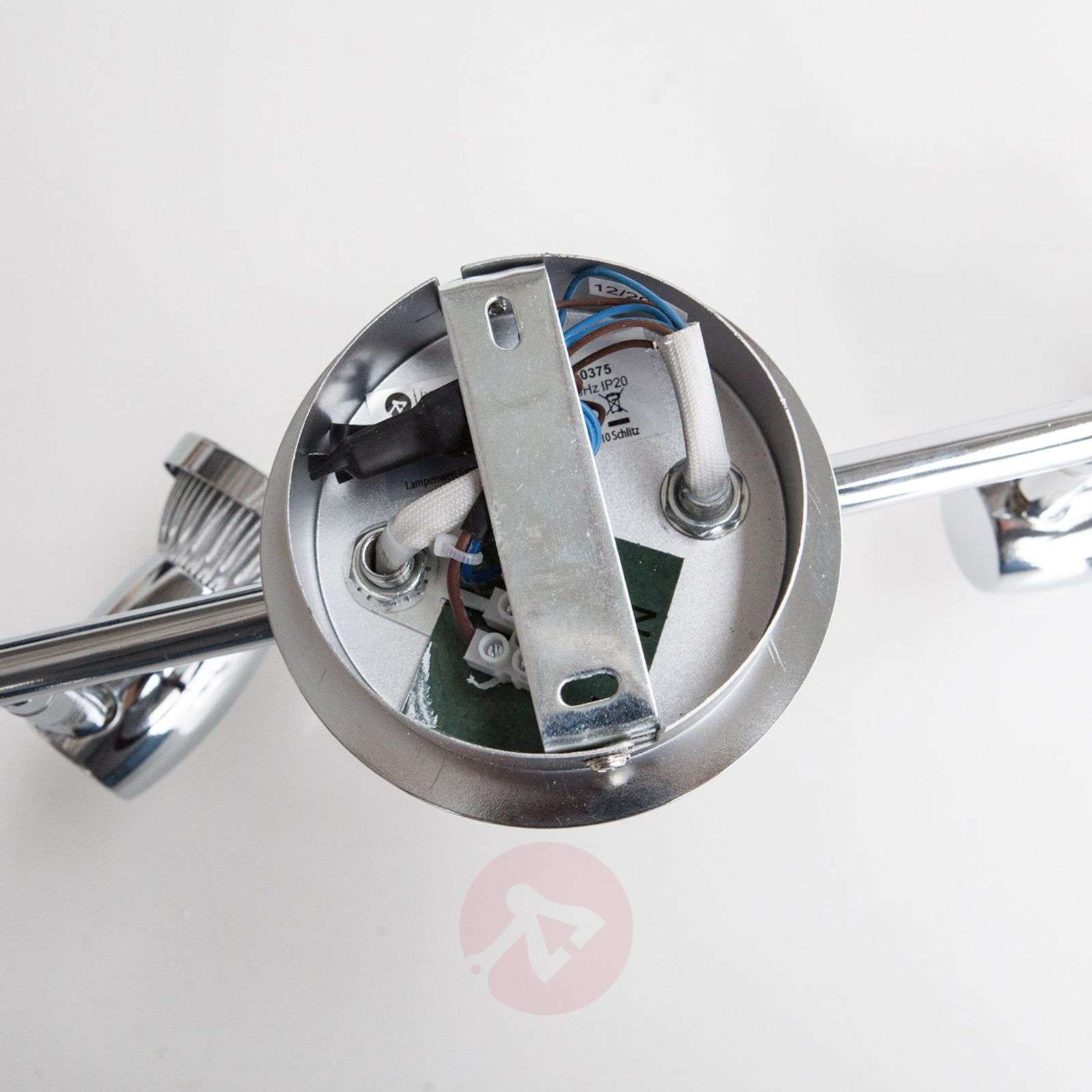 Six-bulb LED chrome ceiling lamp Arminius-9950375-010