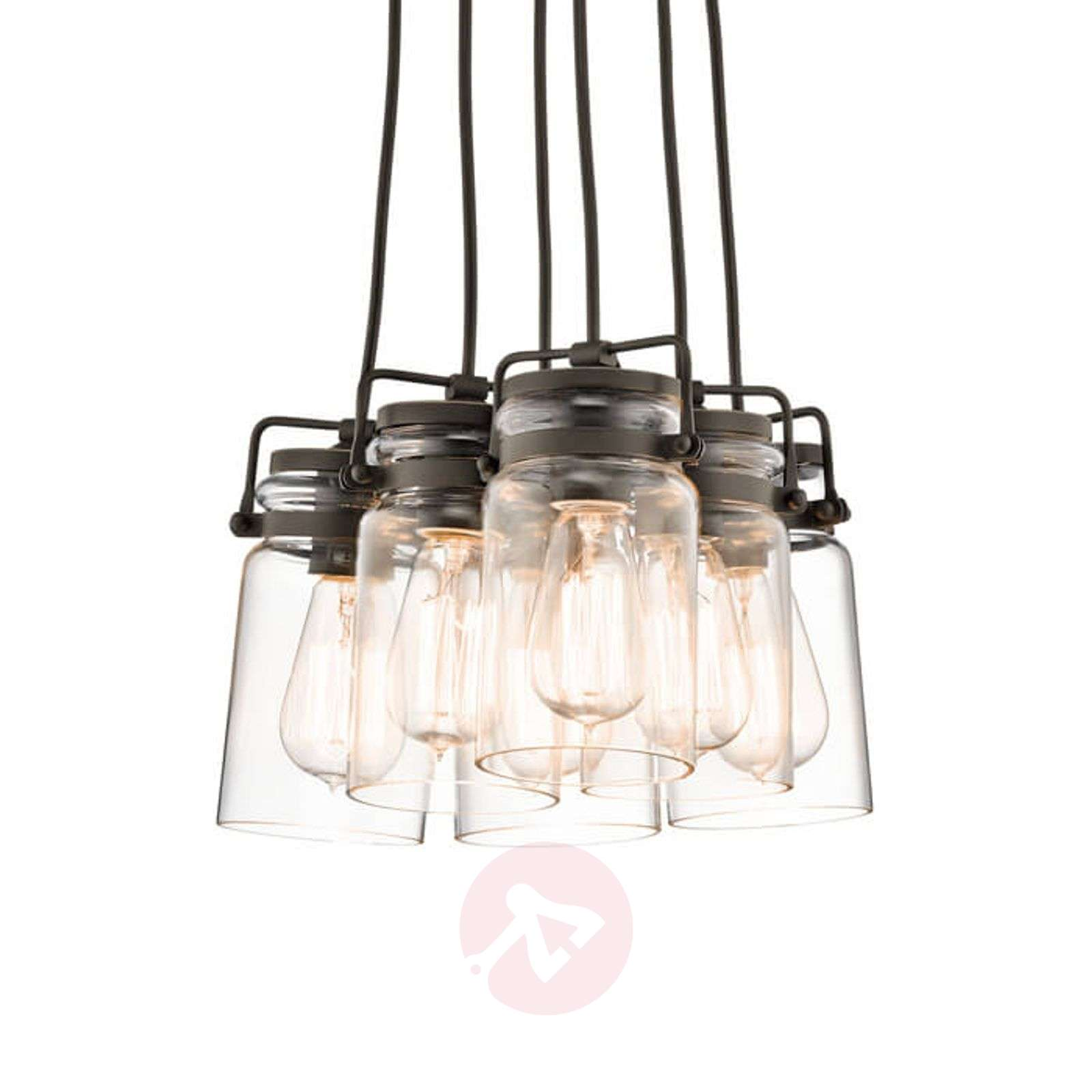 Six-bulb pendant lamp Brinley-3048601-01