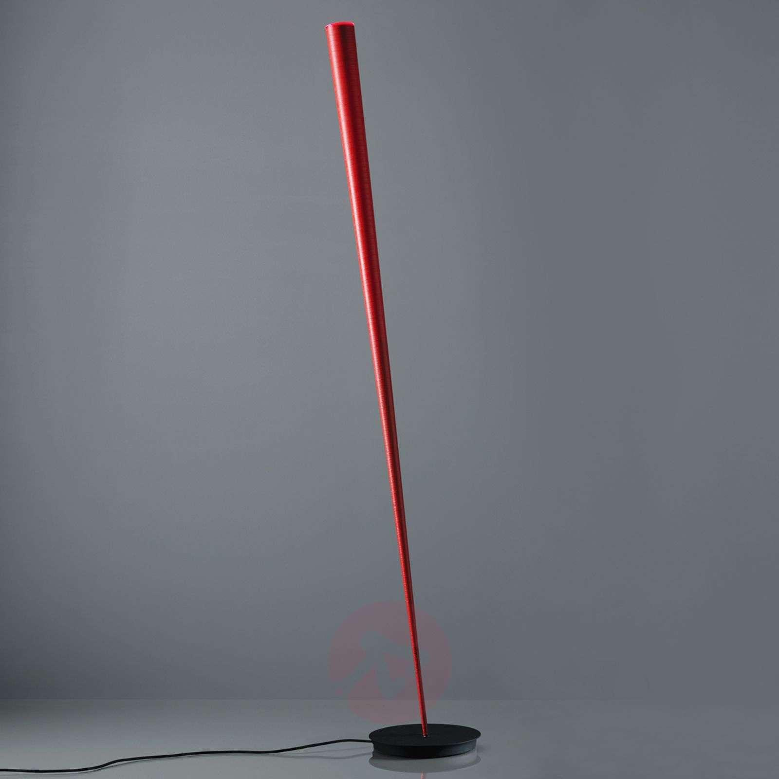Slim designer-floor lamp Drink in red-5501158-01