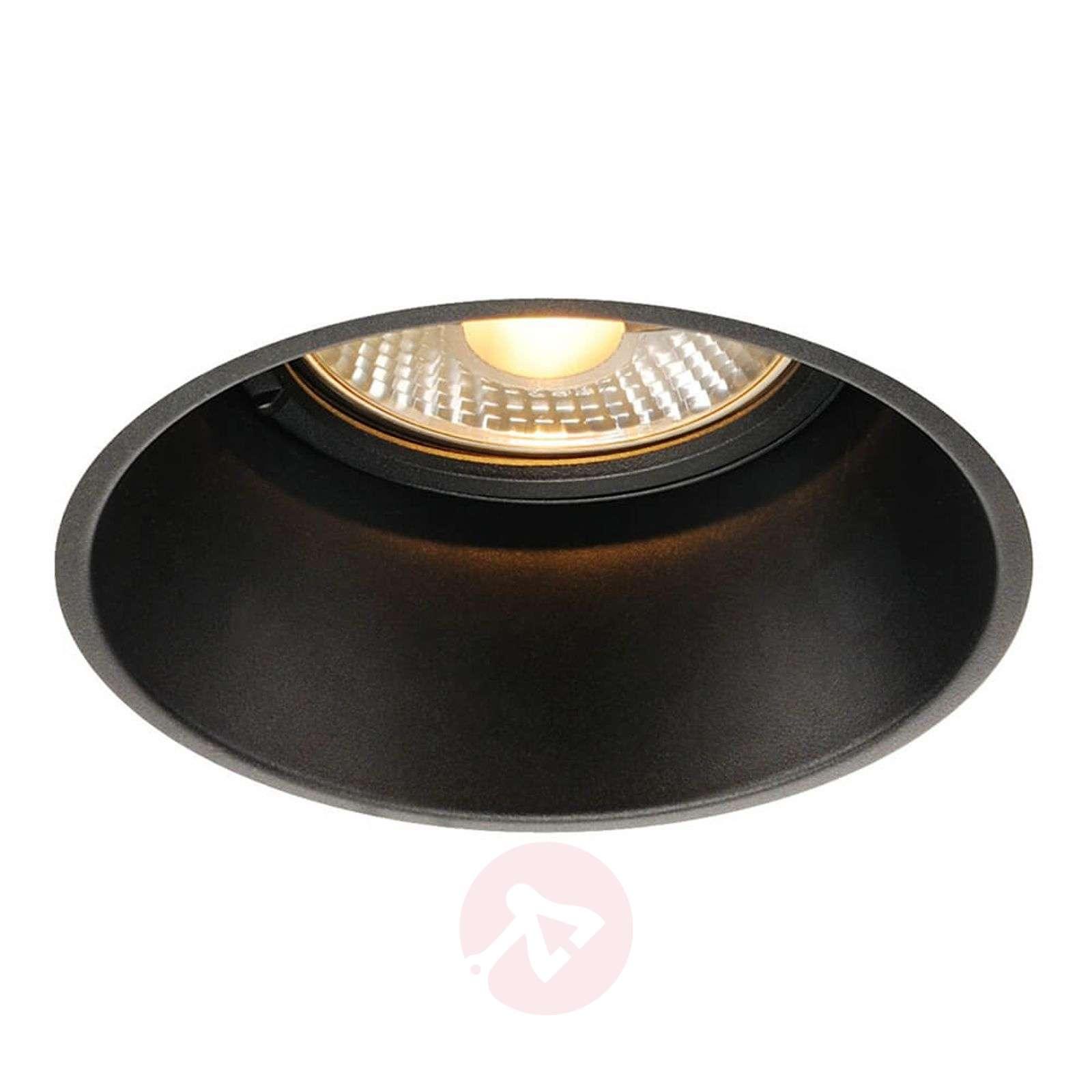 Slv horn t recessed light black reduced glare