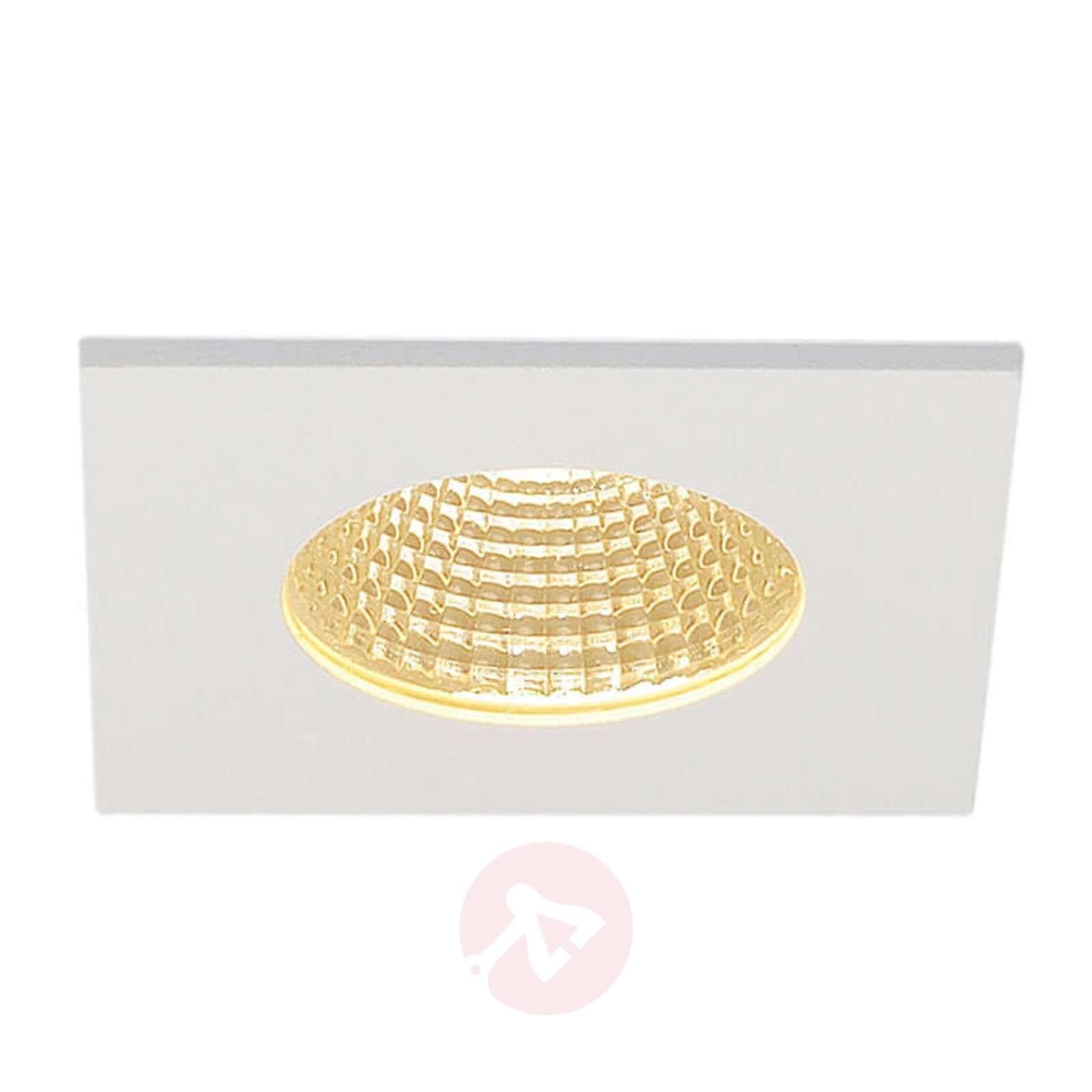 SLV Patta I LED recessed light, angular matt white-5504796-01