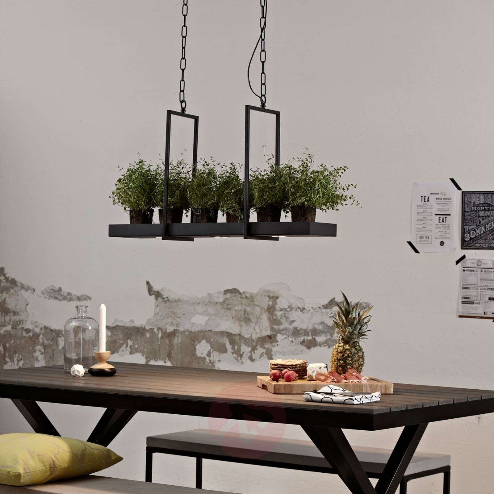 Smart LED hanging lamp Tray in black-6505631-01