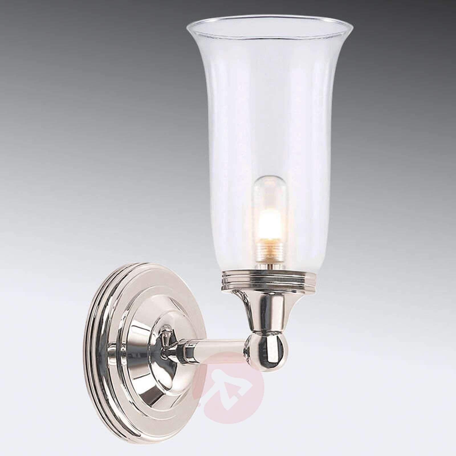 Smooth glass bathroom wall light Austen 2 nickel-3048660-01
