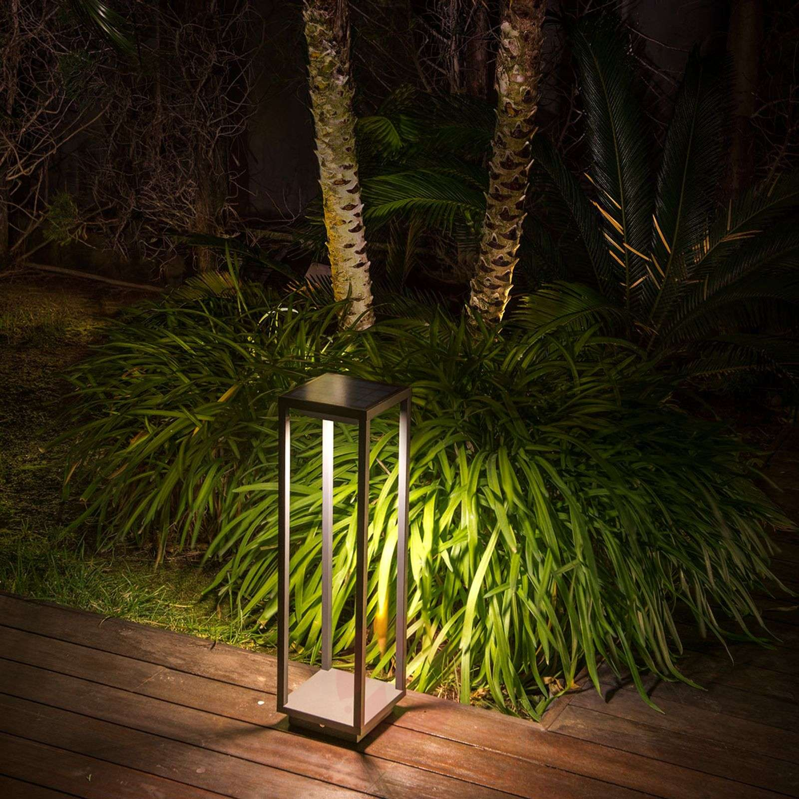 Solar LED pillar light Saura with motion sensor-3507318-02