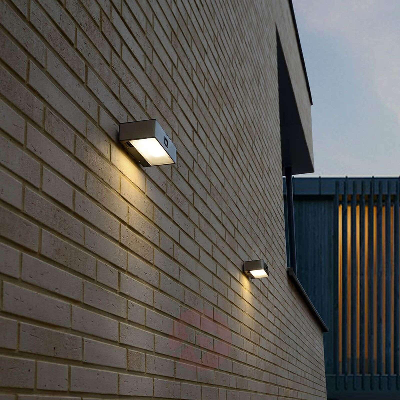 Solar Powered Brick Led Sensor Outdoor Wall Light Lights Ie