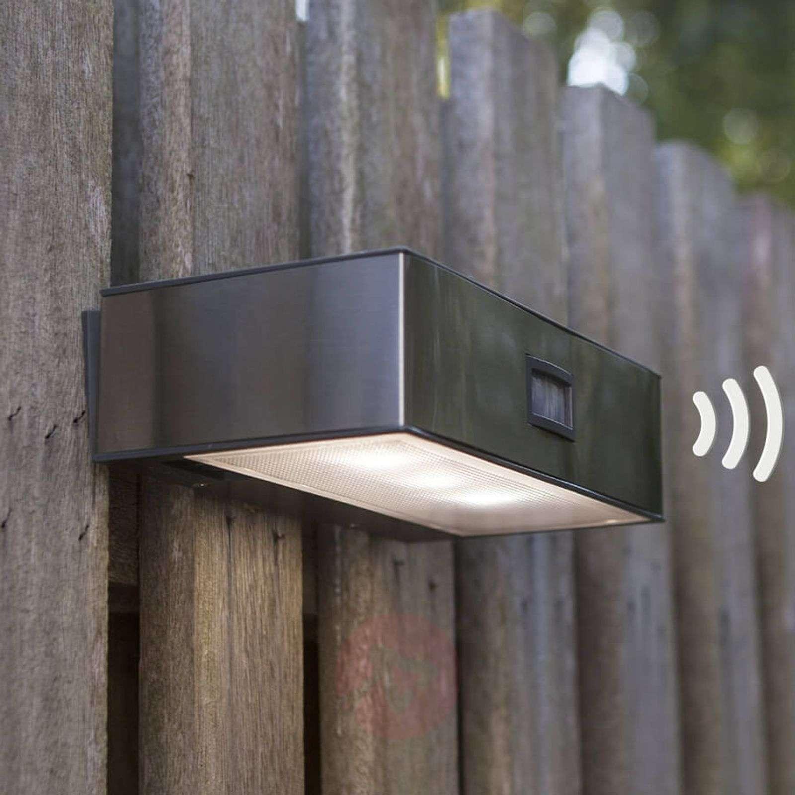 Solar Ed Brick Led Sensor Outdoor Wall Light