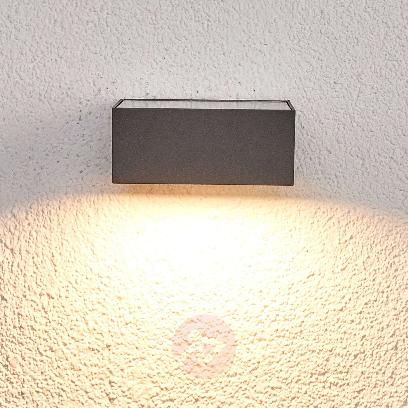 Solar-powered LED outdoor wall light Mahra, sensor-9619074-01