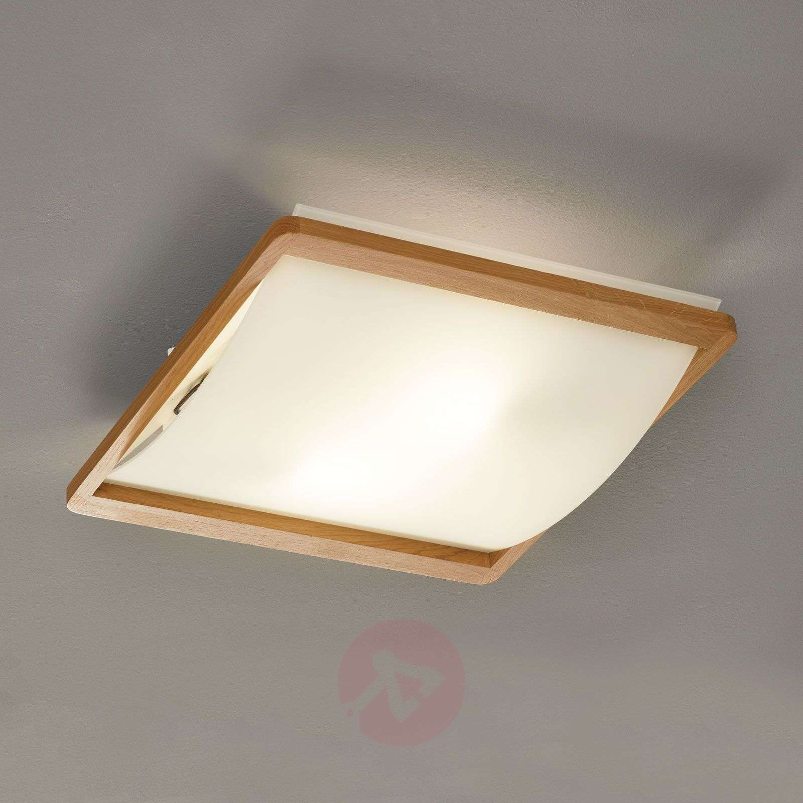 Solido Ceiling Light With Wooden Frame