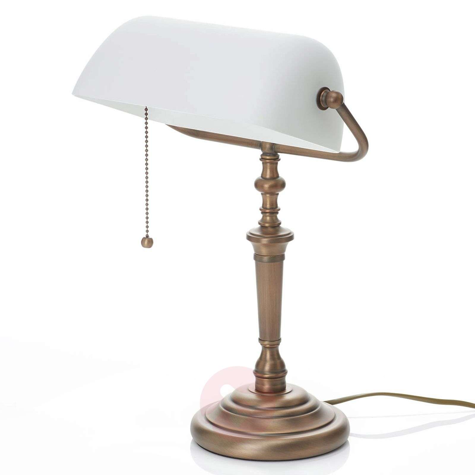 Special banker table lamp Classical, white-8509350-01