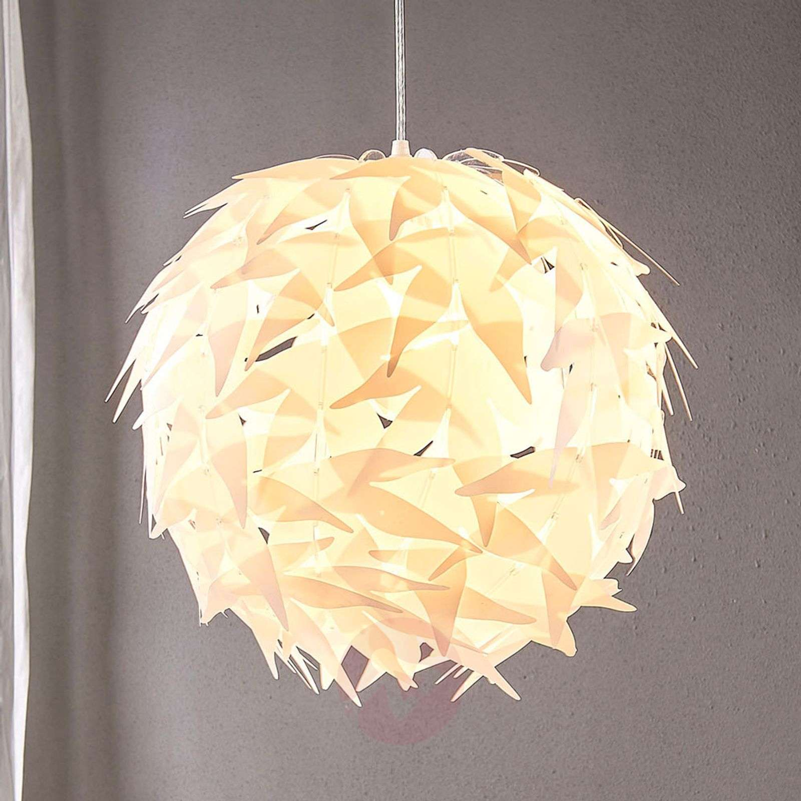 Spherical pendant light Corin in white-9621142-02