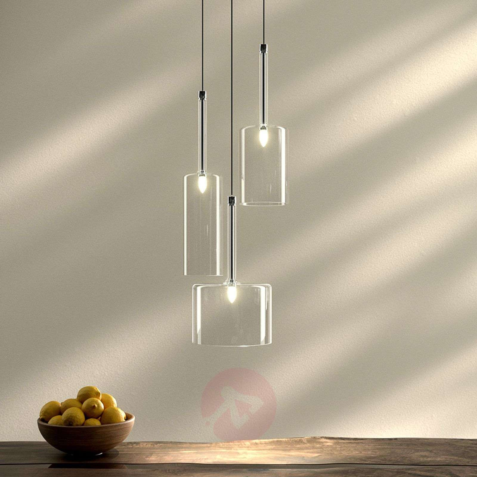 Spillray three-bulb glass pendant light-1088087-01