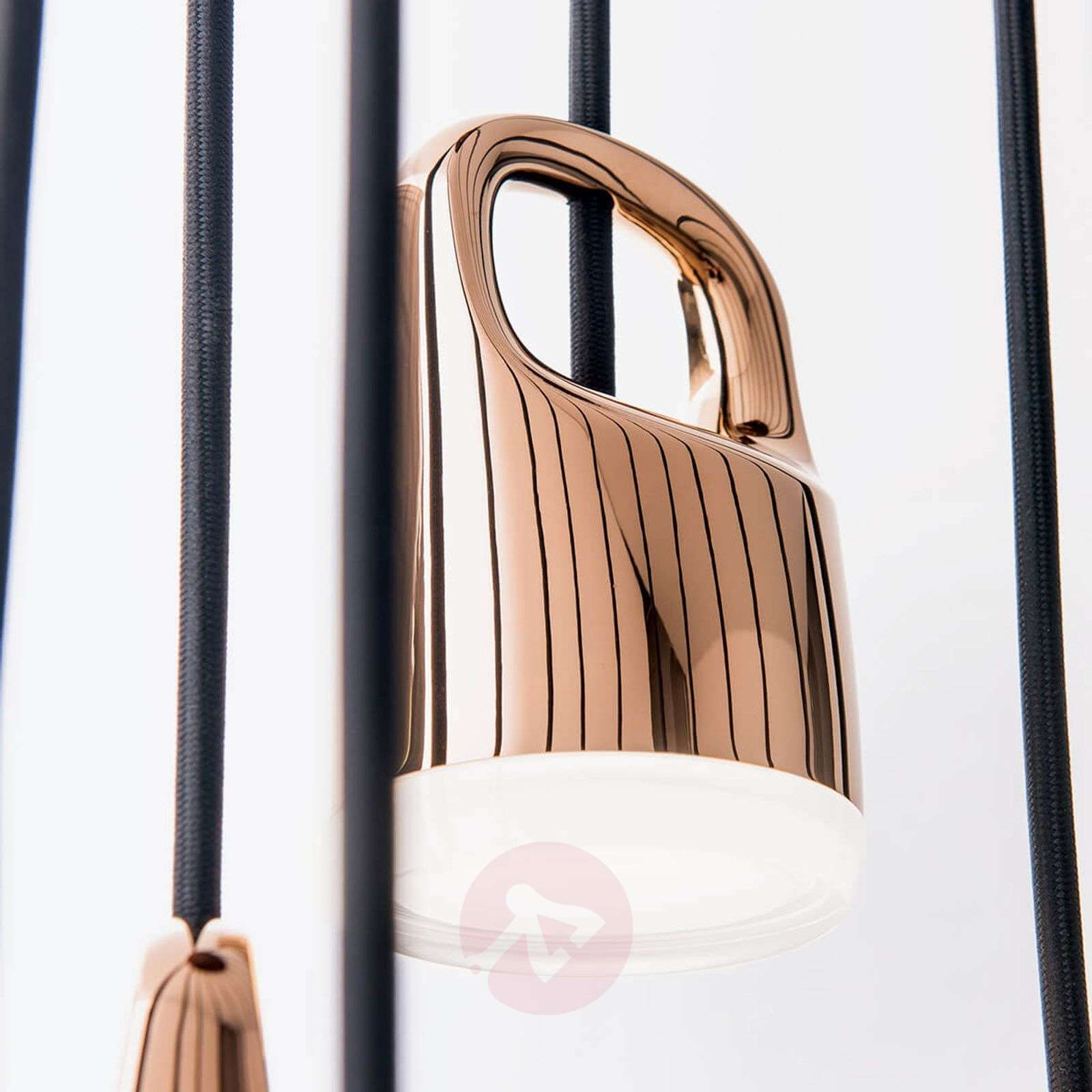 Spiral-shaped LED hanging light Tinus-7255310-01