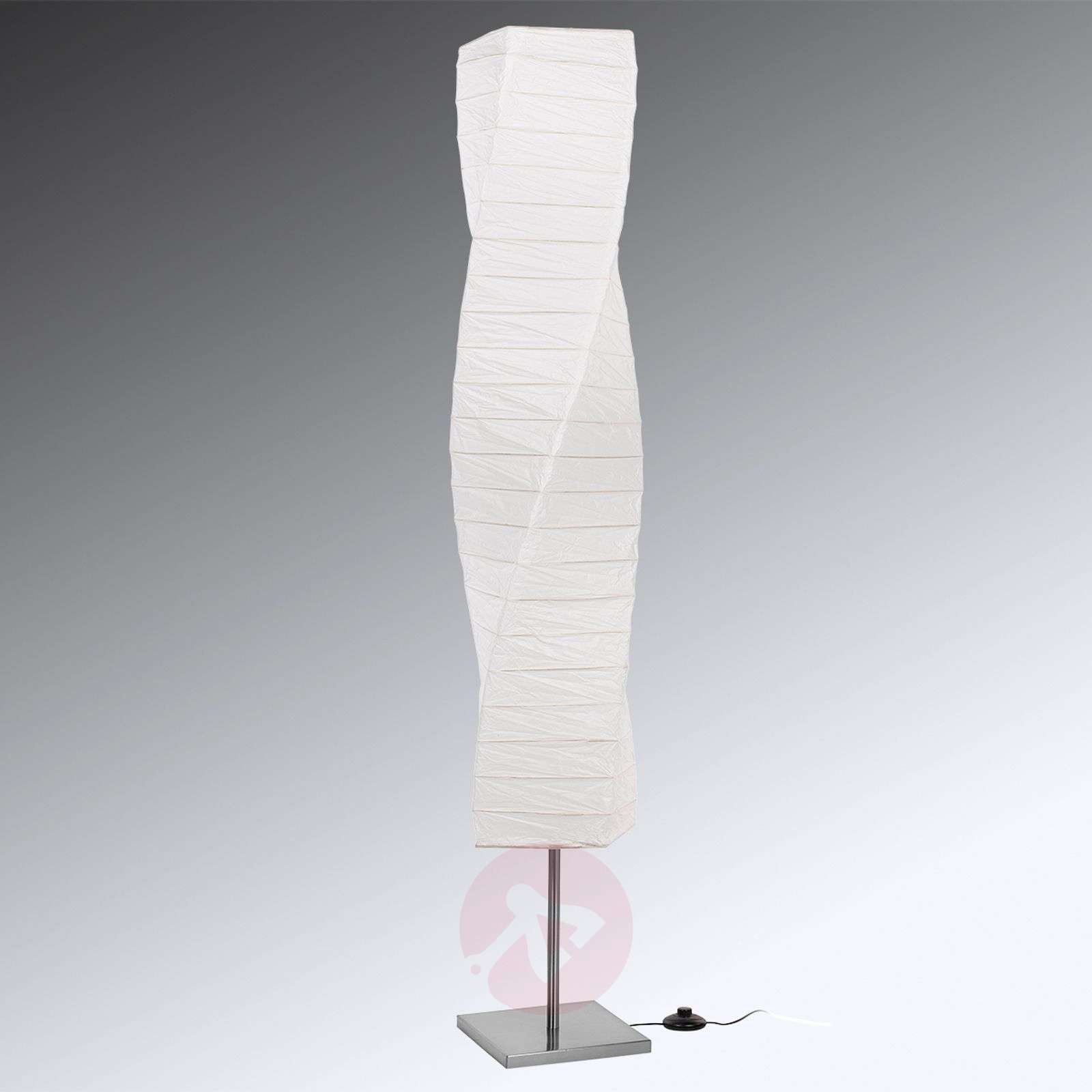 Spiral-shaped paper floor lamp Twister-8567077-013