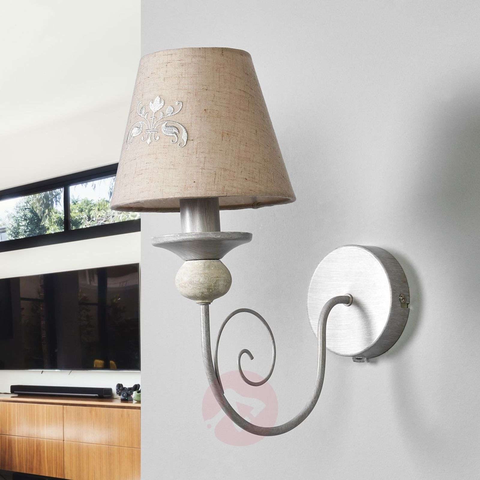 Spirited Robin fabric wall light-6055077-01