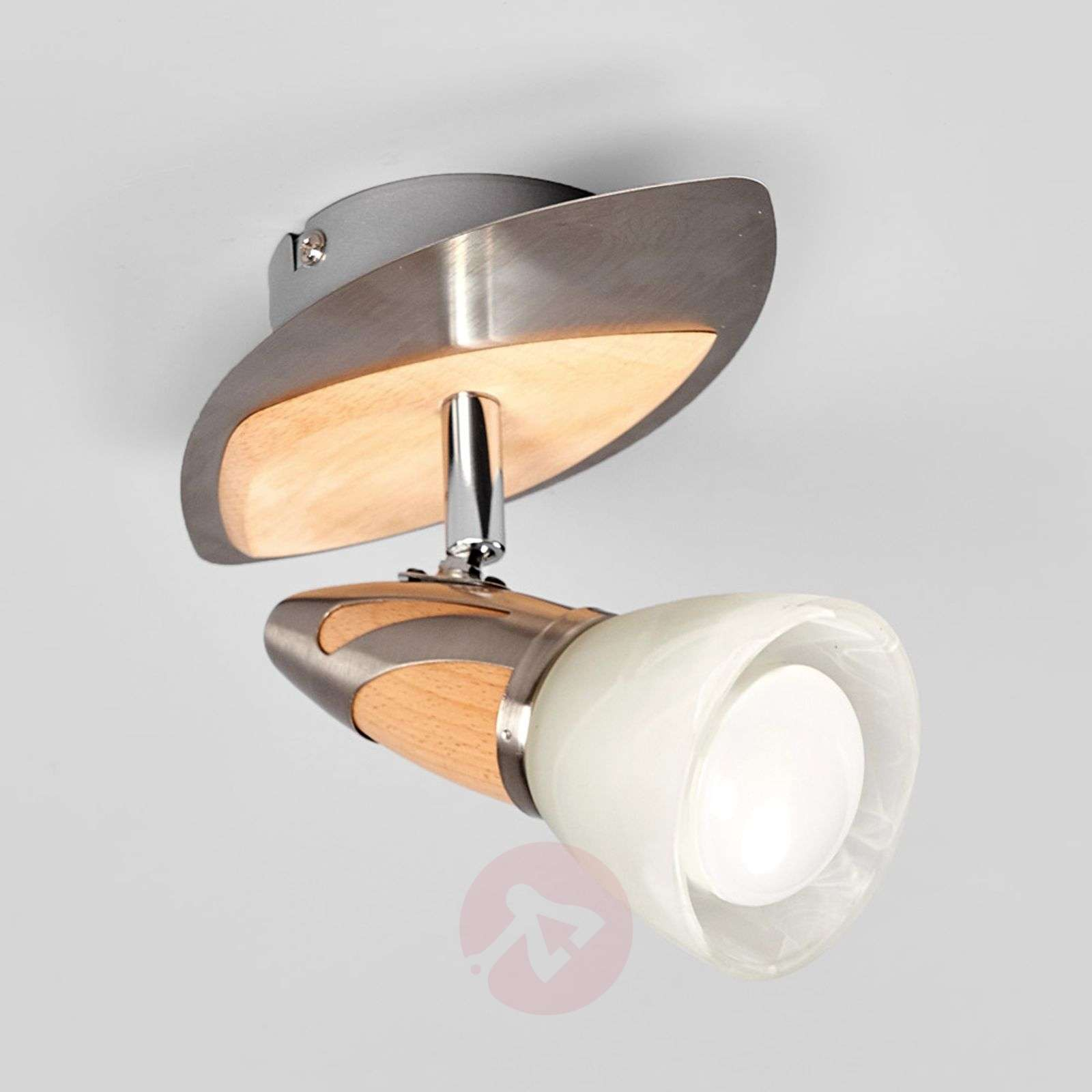 Spotlight Marena with a wooden finish, E14 R50 LED-9620552-01