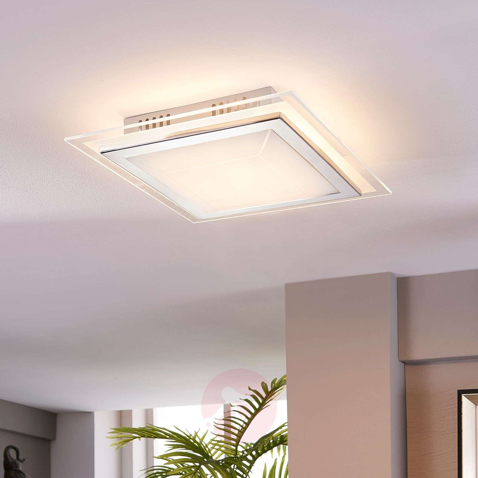 square glass ceiling light alessio with led. Black Bedroom Furniture Sets. Home Design Ideas