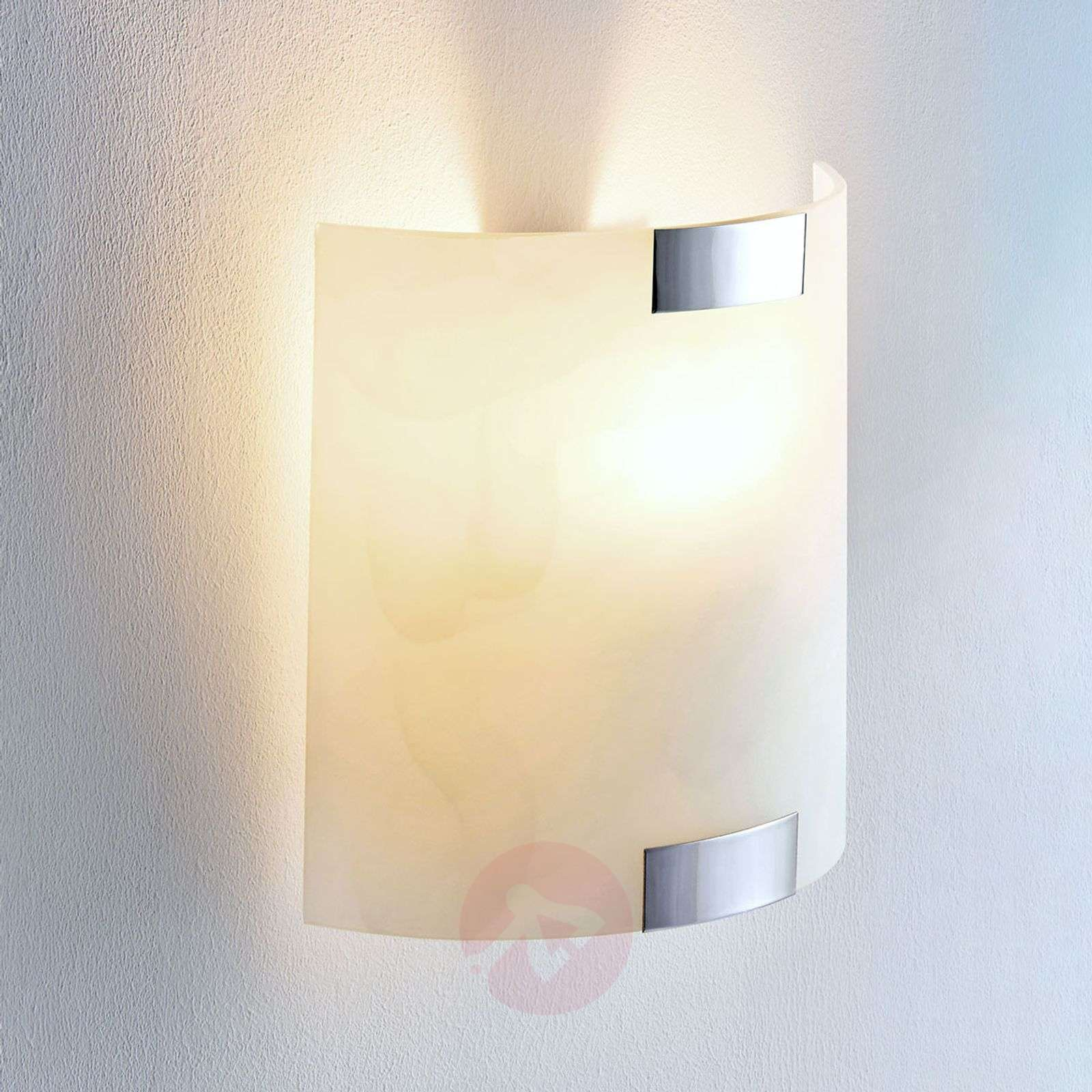 Square glass wall light Quentin with an E14 LED-9620372-08