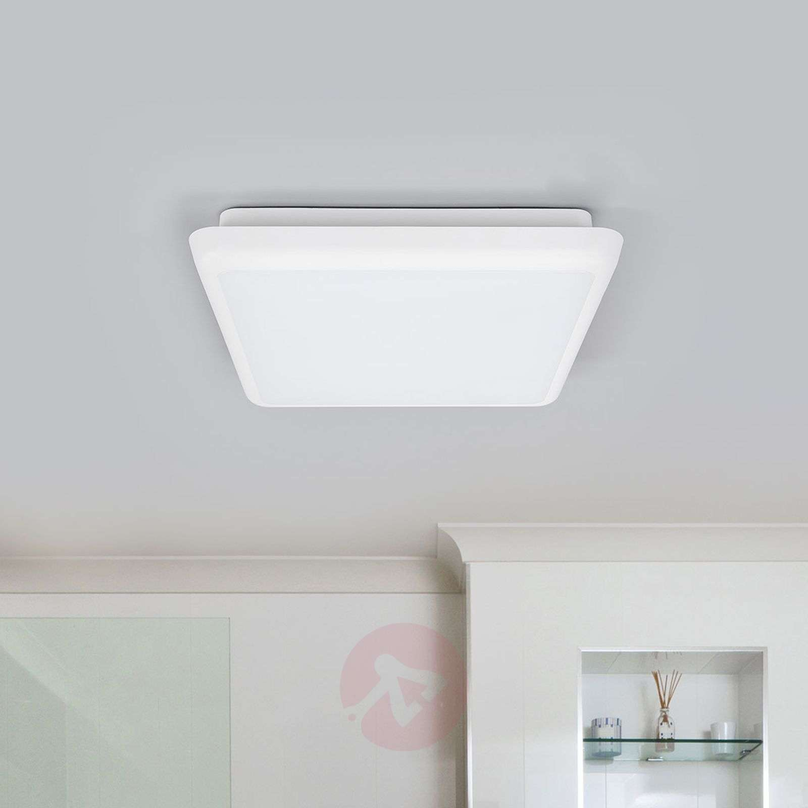 Square LED ceiling lamp Augustin, 25 cm-9967010-01