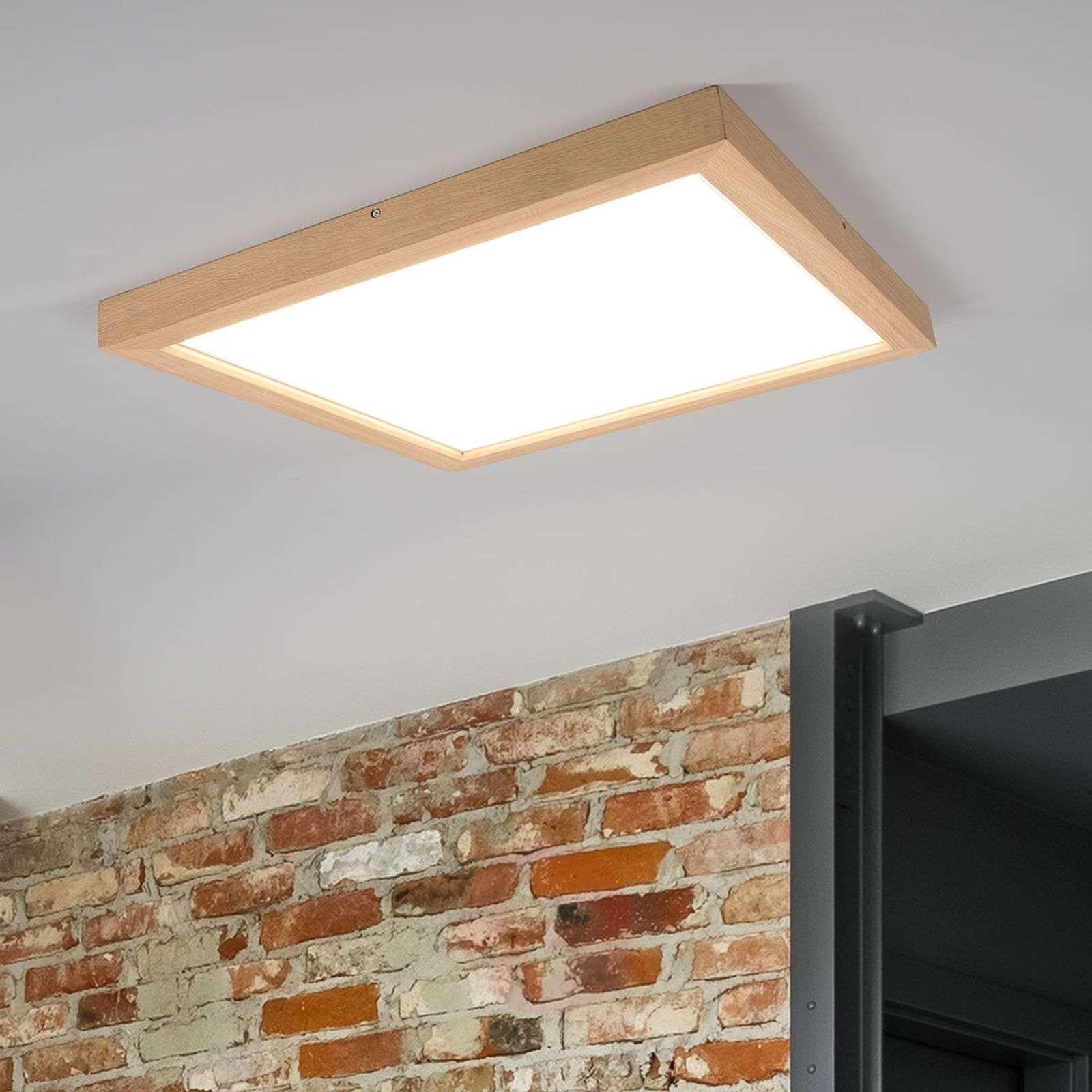 Square LED oak ceiling light Addison-8592018-01