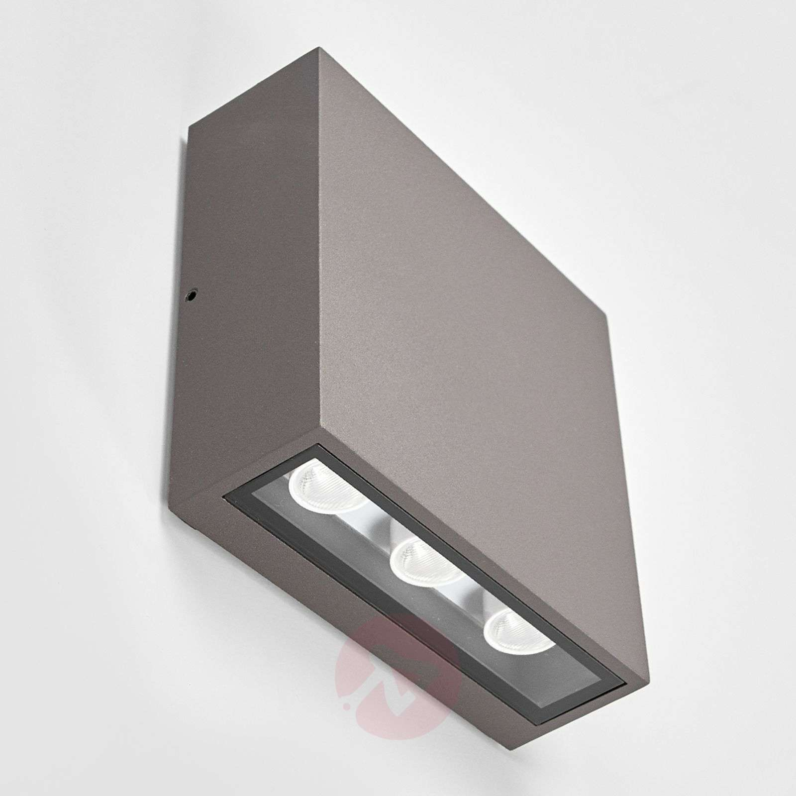 Square led outdoor wall light trixy graphite grey lights square led outdoor wall light trixy graphite grey 9619075 01 aloadofball Gallery