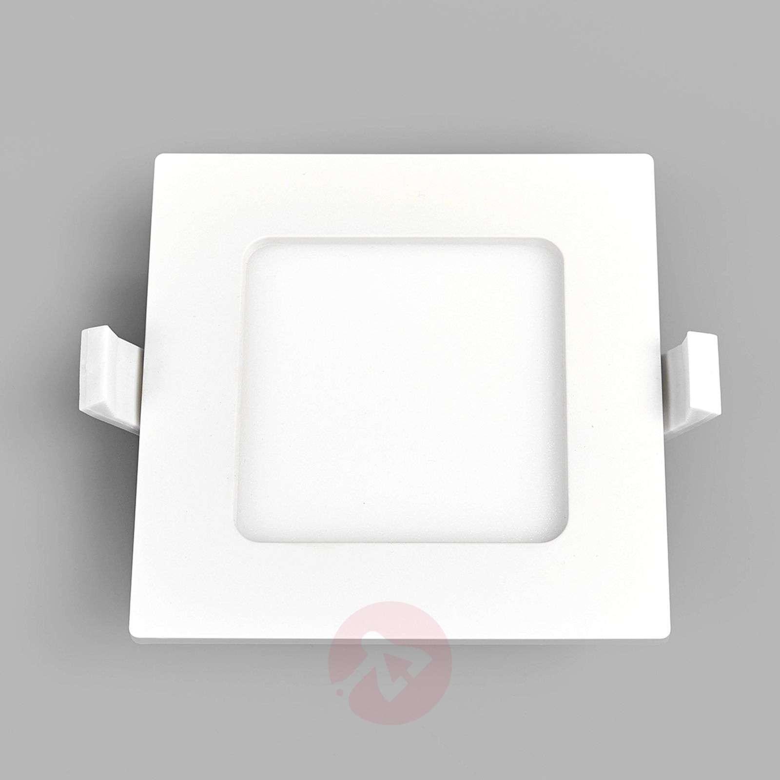 Square LED recessed light Feva in white, 5 W-9978016-039